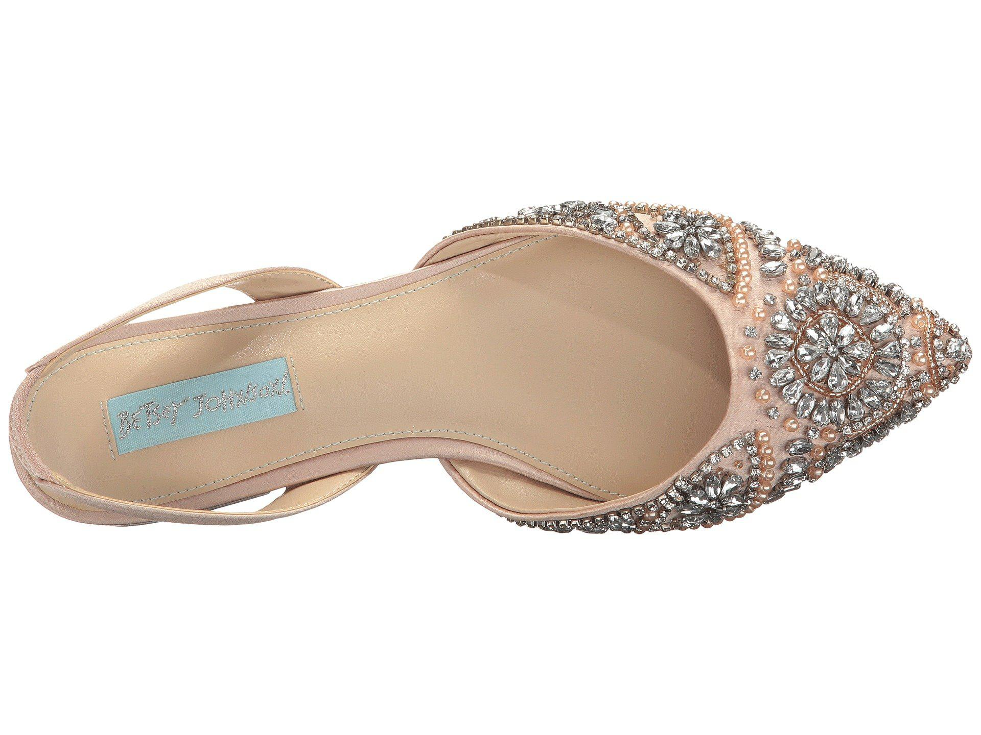 40859e66a71 Betsey Johnson - Multicolor Molly (champagne Satin) Women s Shoes - Lyst.  View fullscreen