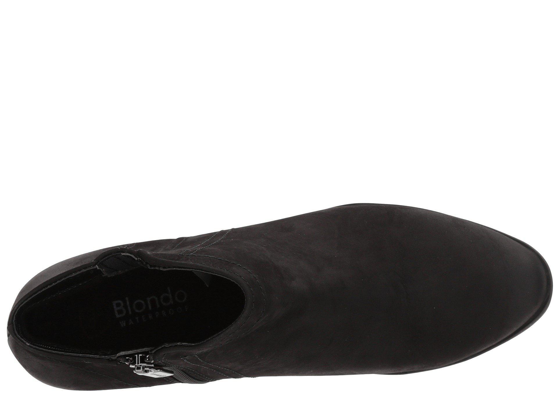 87580228cc28 Blondo - Black Valli Waterproof Bootie (mushroom Nubuck) Women s Boots -  Lyst. View fullscreen