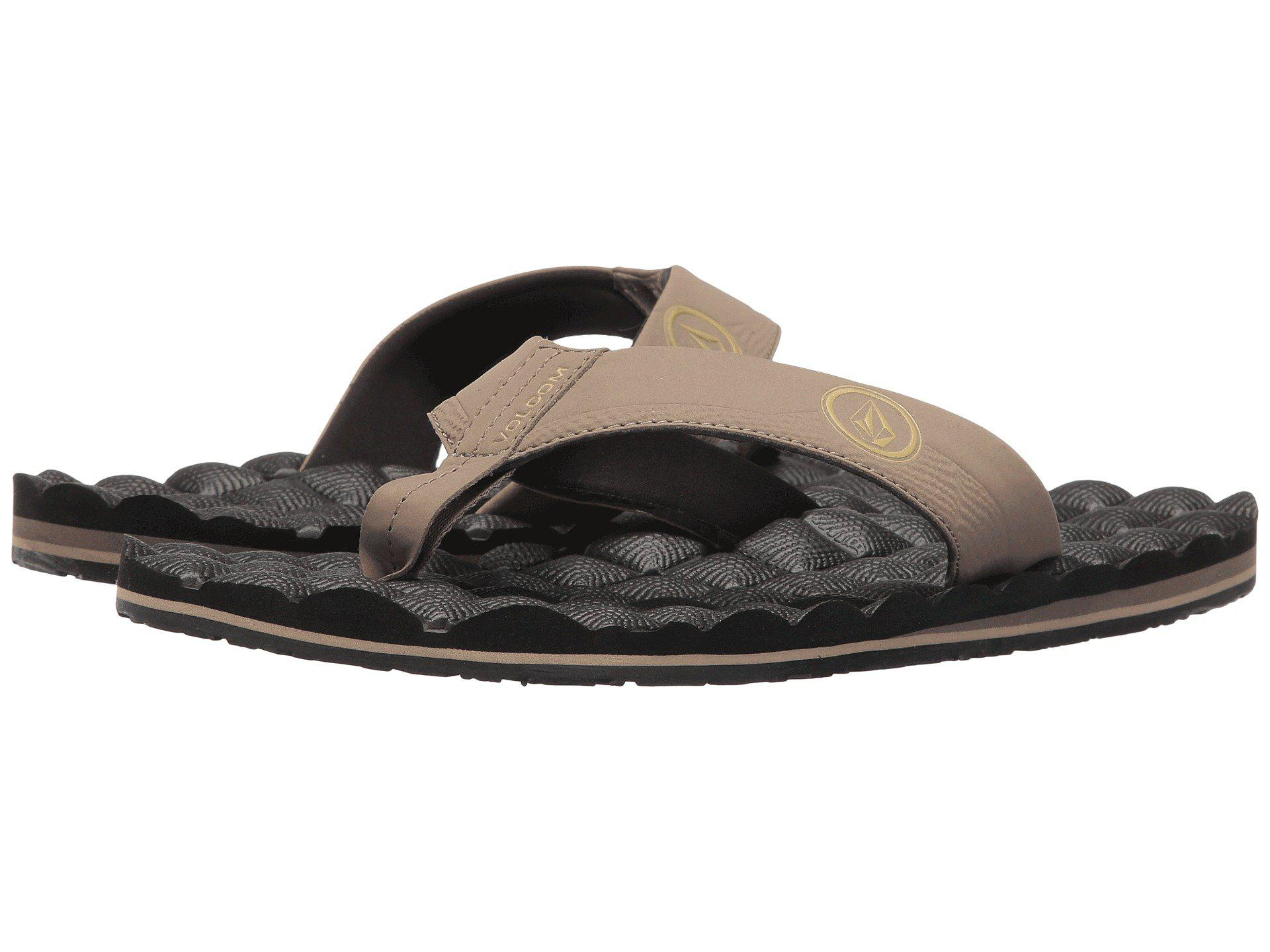 5535fec77f38 Lyst - Volcom Recliner (blue Combo) Men s Sandals in Black for Men