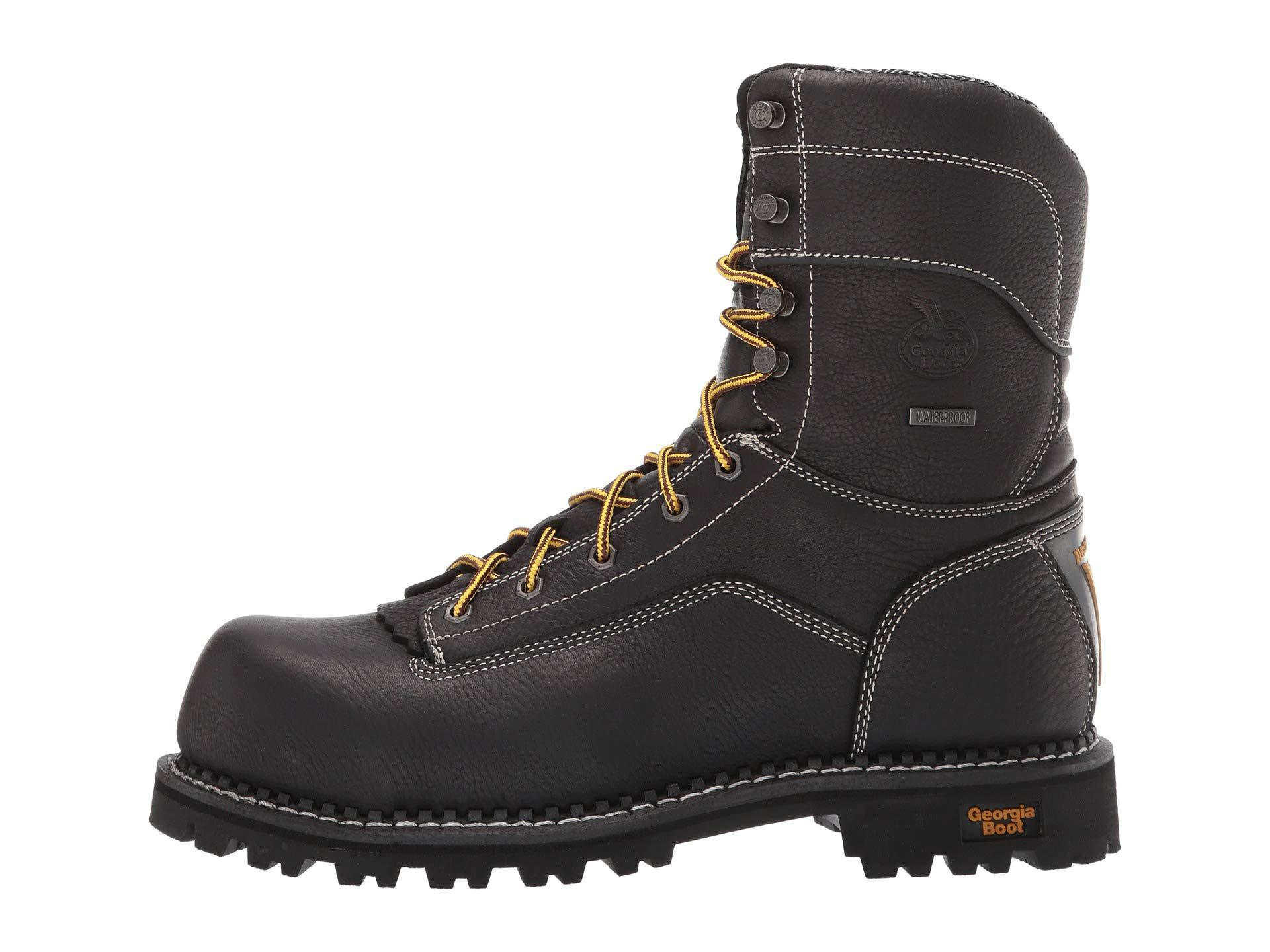 53b3de1d061 Low Heel Logger 9 Comp Toe Waterproof (black) Men's Work Boots