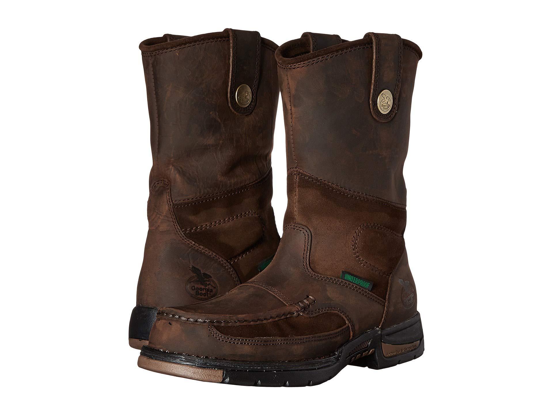 1294c3a631e Lyst - Georgia Boot Athens Moc Toe/steel Toe Wellington Boot (brown ...