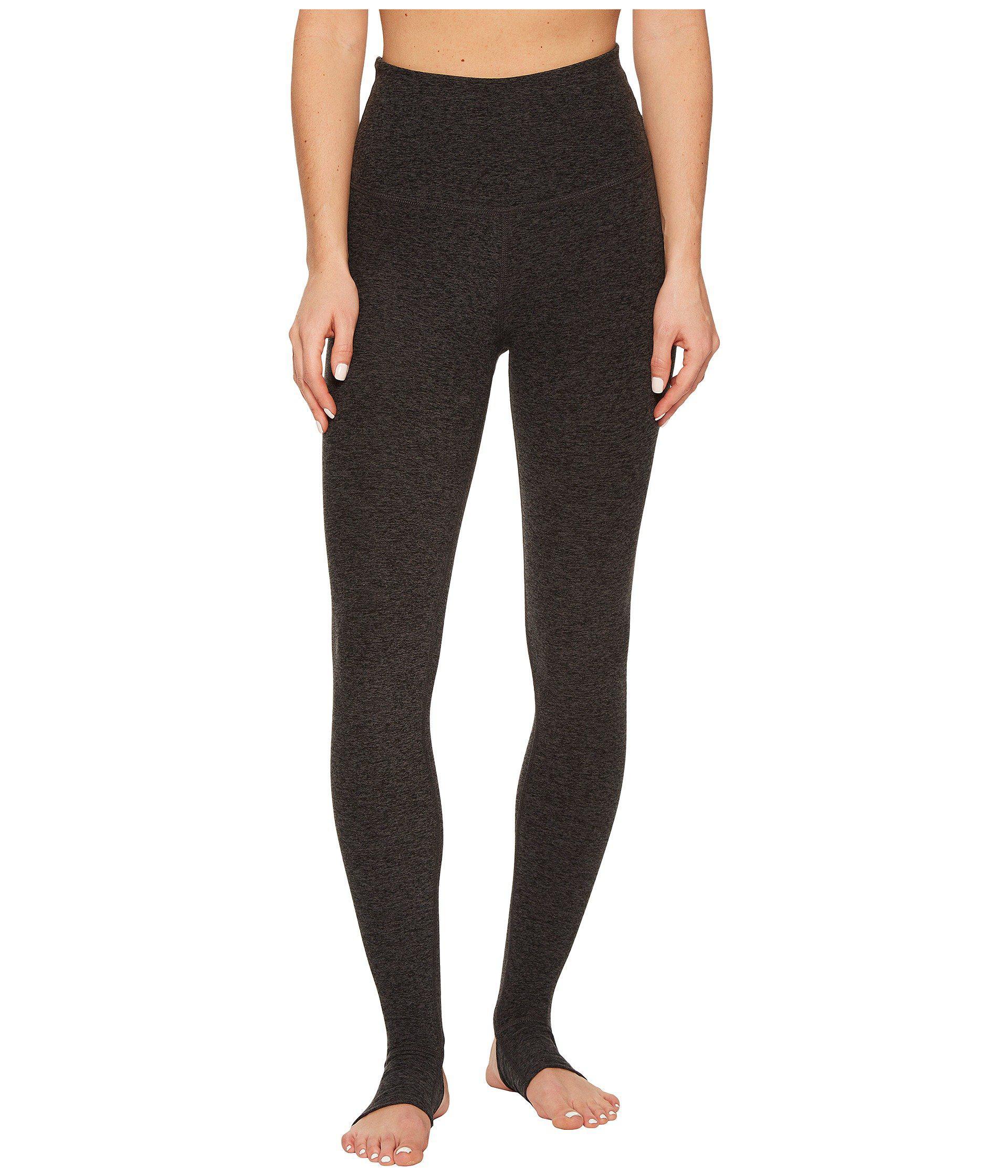 c508e419cea0f Lyst - Beyond Yoga High Waist Stirrup Leggings (black/charcoal ...
