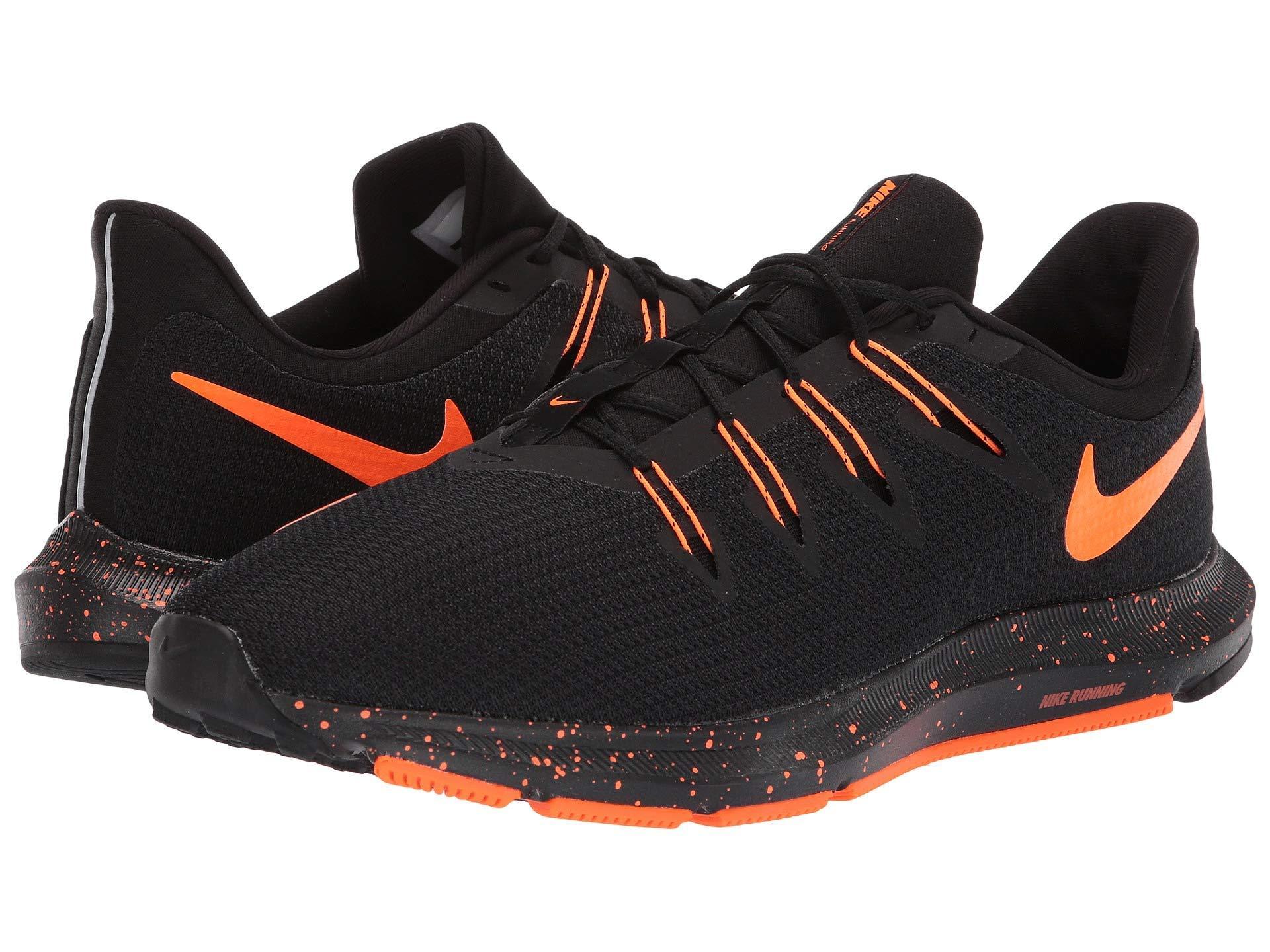 4e1f22a715310 Lyst - Nike Quest (black total Orange) Men s Running Shoes in Black ...
