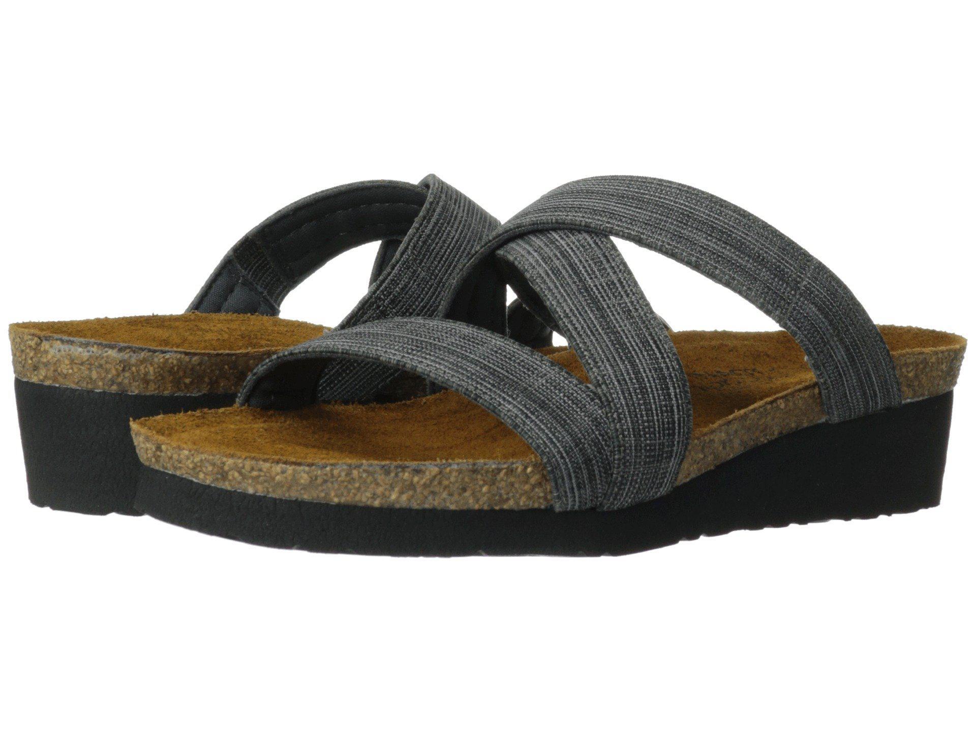 3be8577e1e1d Lyst - Naot Naomi (black Fabric) Women s Shoes in Black