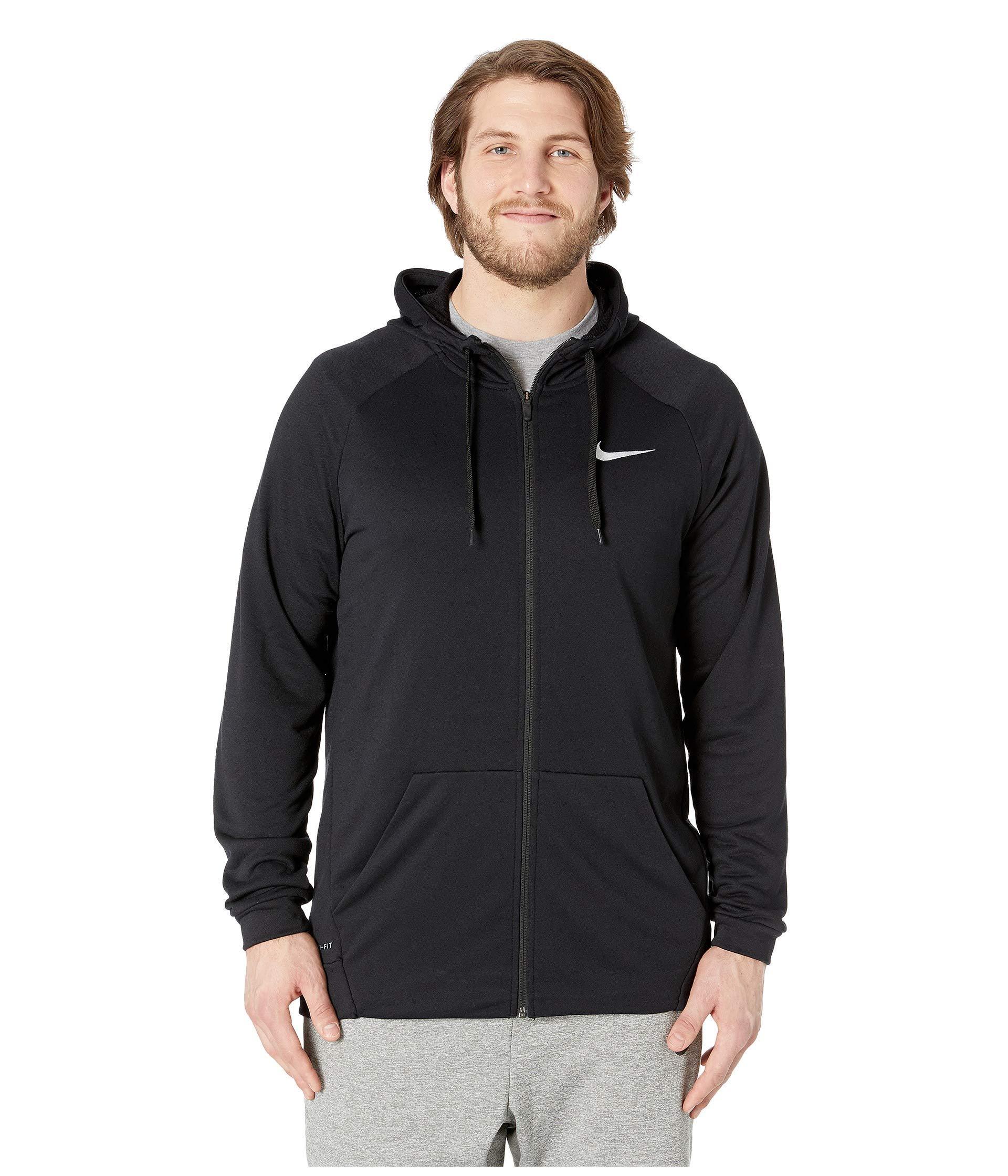 3aabb7bf773 Nike. Big Tall Dry Training Full Zip Hoodie (black white) Men s Fleece