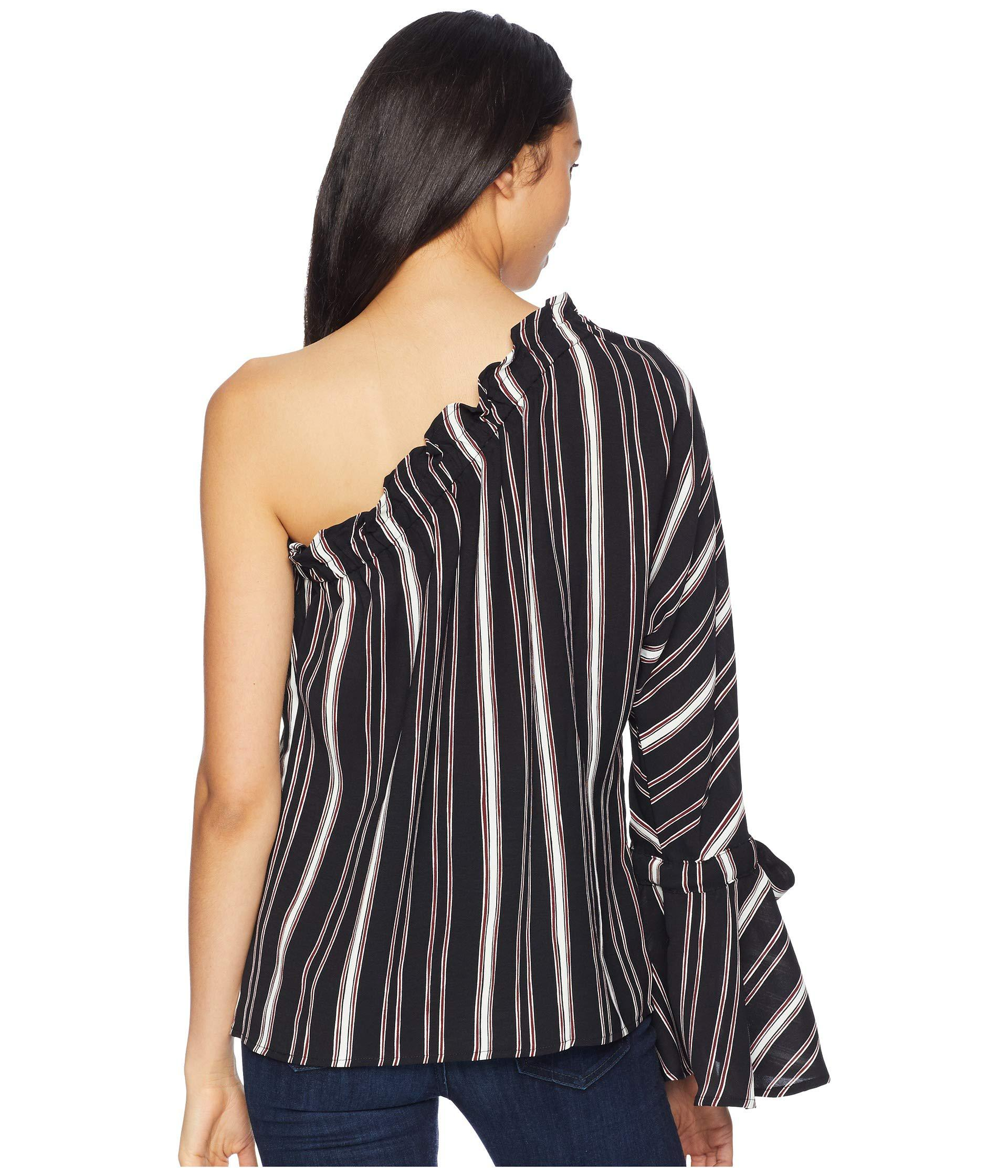 b83ae124ef5 Bishop + Young - Blue Stripe One Shoulder Top (navy) Women's Clothing -  Lyst. View fullscreen