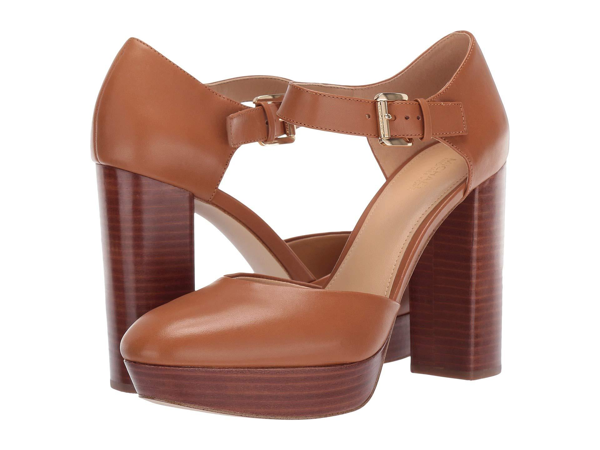 40cf6101314 MICHAEL Michael Kors. Women s Brown Sierra Platform (black Vachetta) High  Heels
