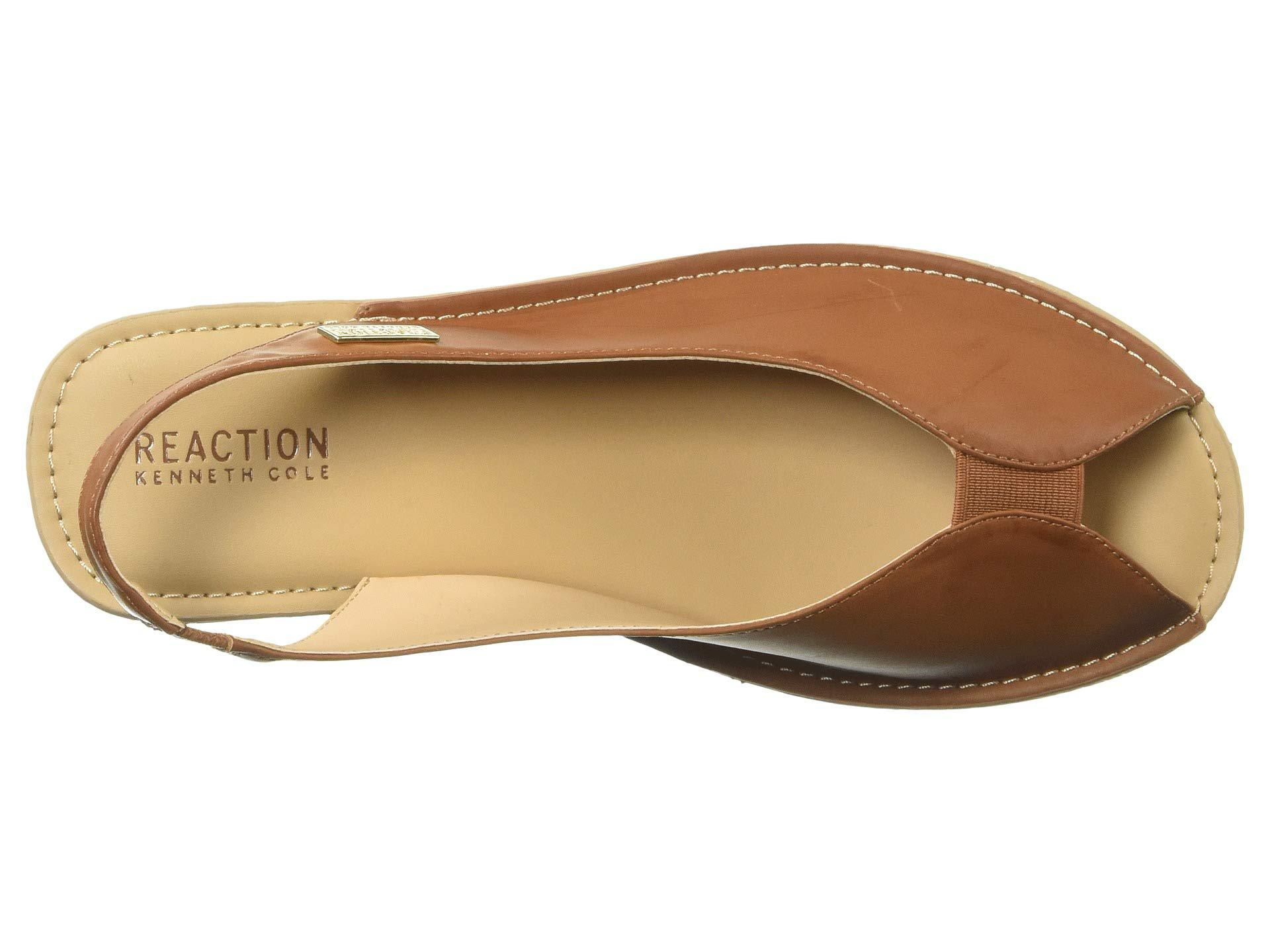 154e379daece Kenneth Cole Reaction - Brown Fine Stretch Sling (tan Smooth) Women s Shoes  - Lyst. View fullscreen