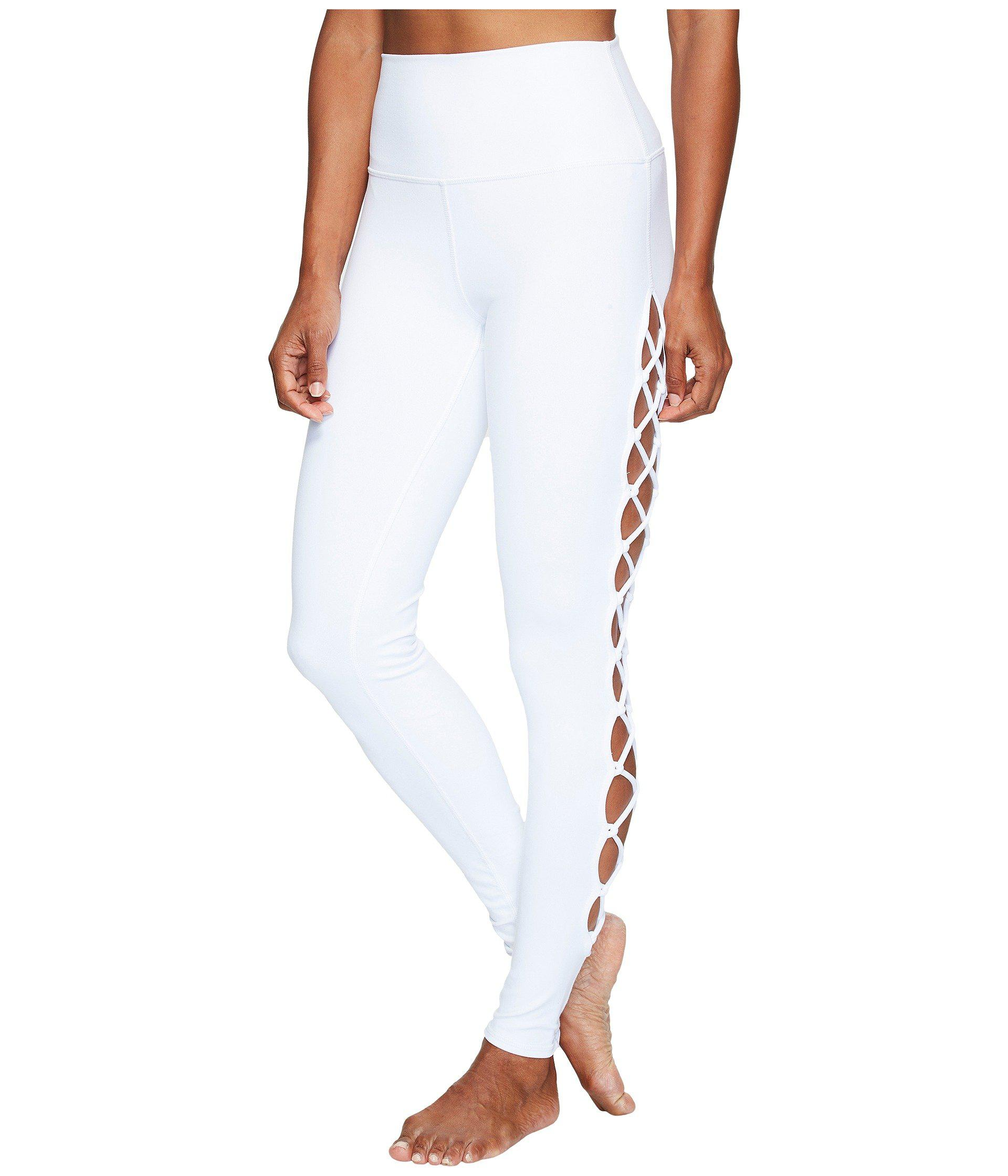 5e3c5e2c5d Alo Yoga Interlace Leggings (white) Women's Casual Pants in White - Lyst
