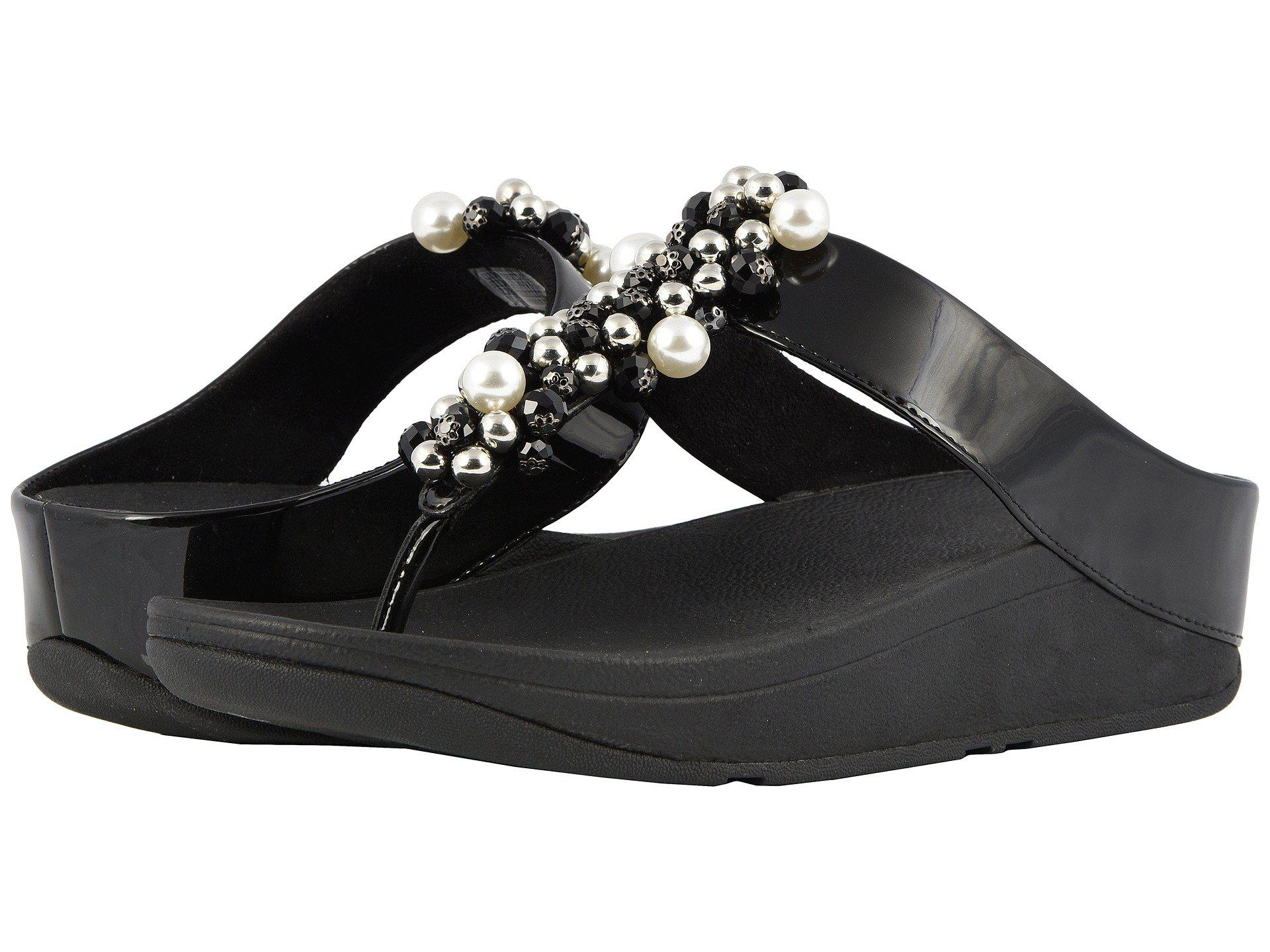 8ddb013649b8d4 Lyst - Fitflop Deco Toe Thong Sandals (black) Women s Shoes in Black