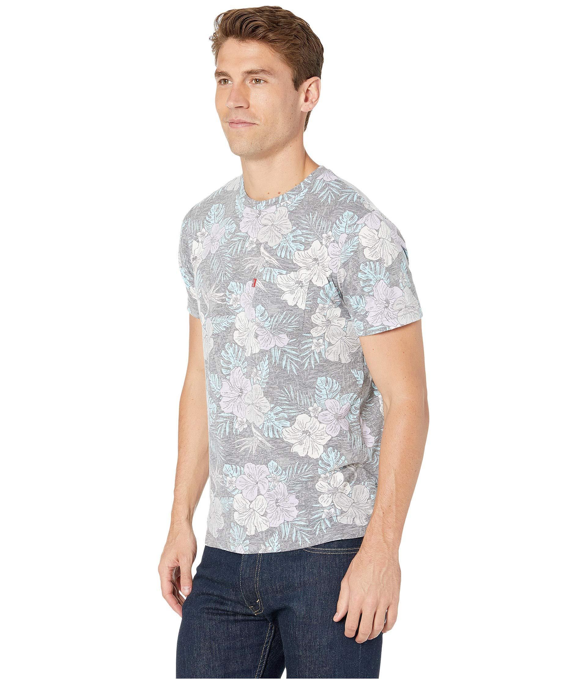 7583c7cc5 Lyst - Levi's Levi's(r) Valley Short Sleeve T-shirt (dress Blues) Men's  Clothing in Gray for Men