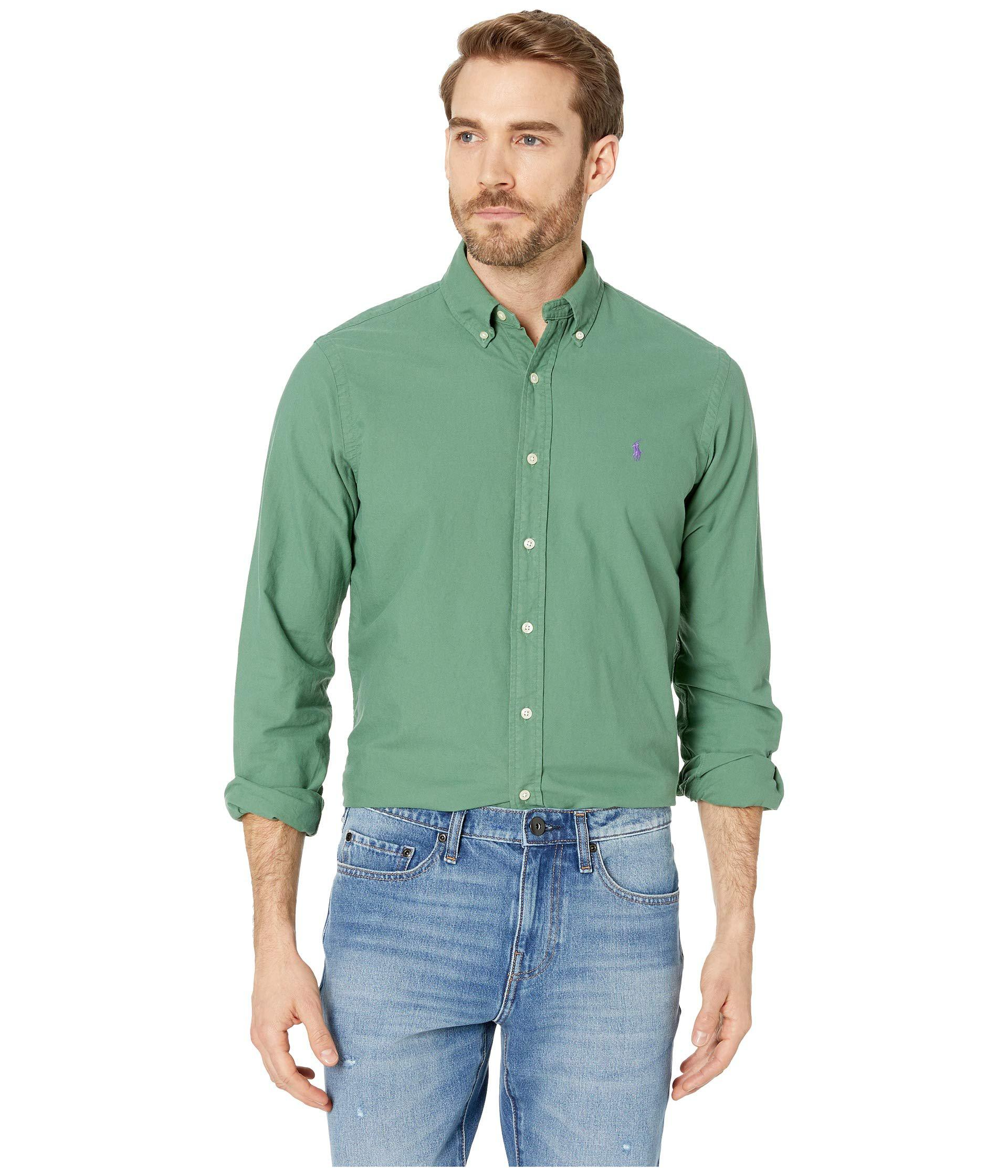 Lyst Polo Ralph Lauren Long Sleeve Solid Garment Dyed Oxford