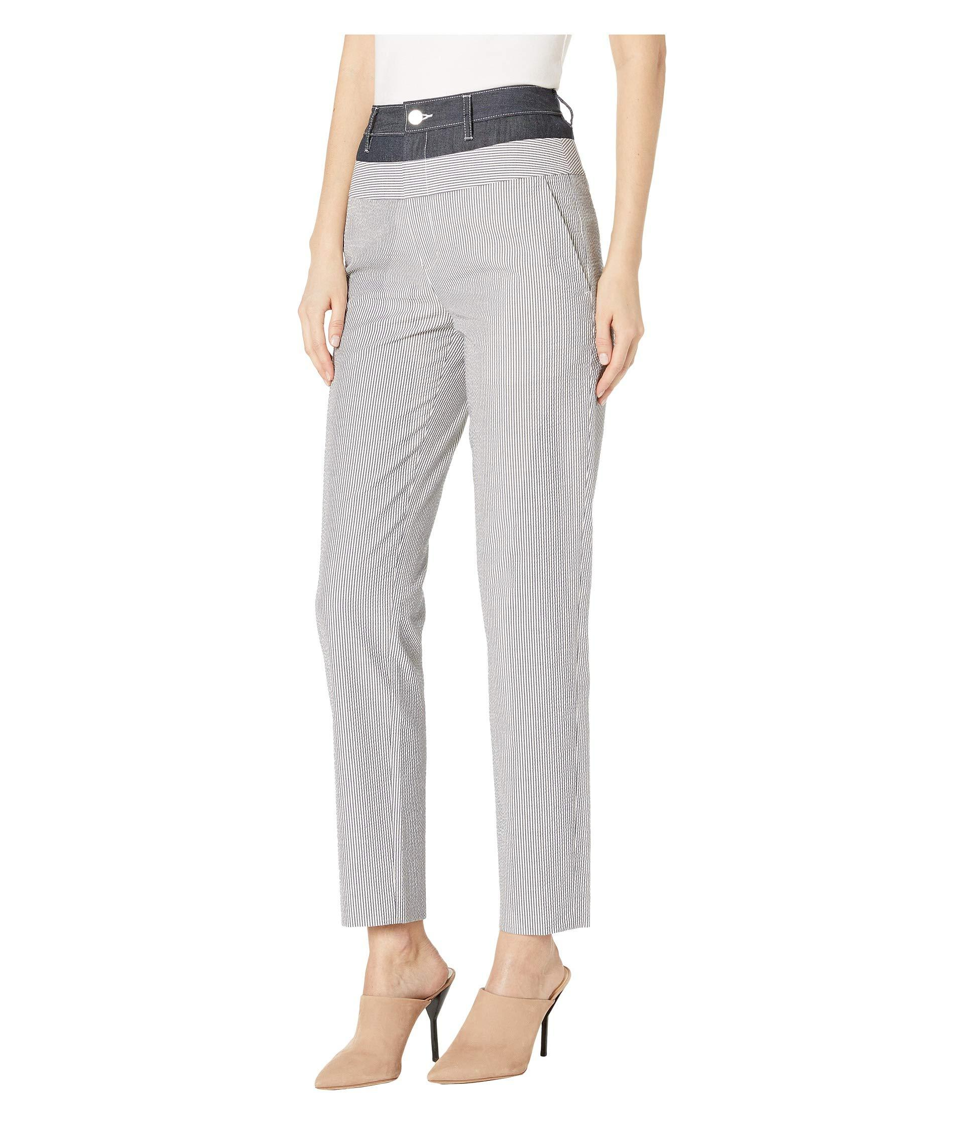 f836e4986ecd Lyst - Jason Wu Stripe Seersucker Pants (twilight star White) Women s  Casual Pants in White