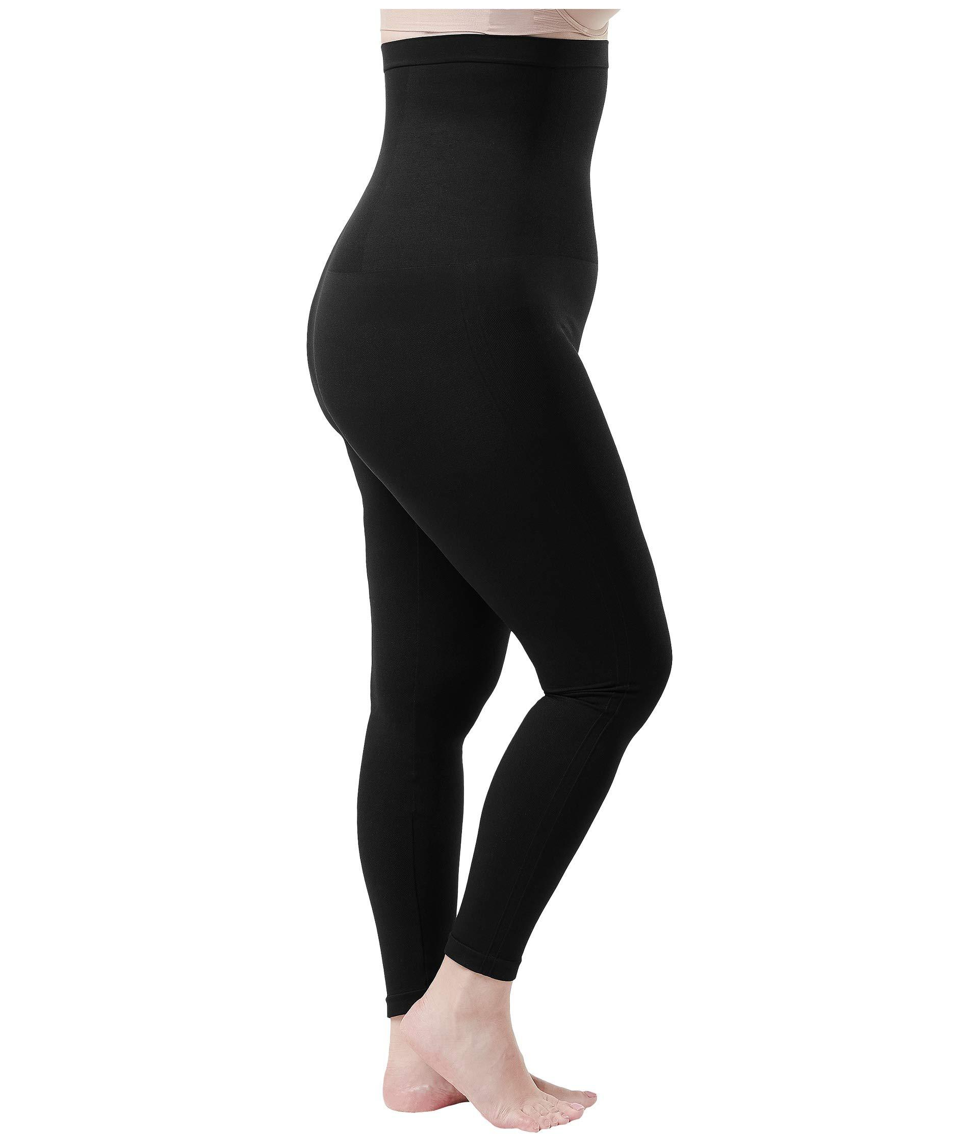 892da429e3bc6 Lyst - Spanx Plus Size Look At Me Now High-waisted Seamless Leggings (very  Black) Women's Clothing in Black