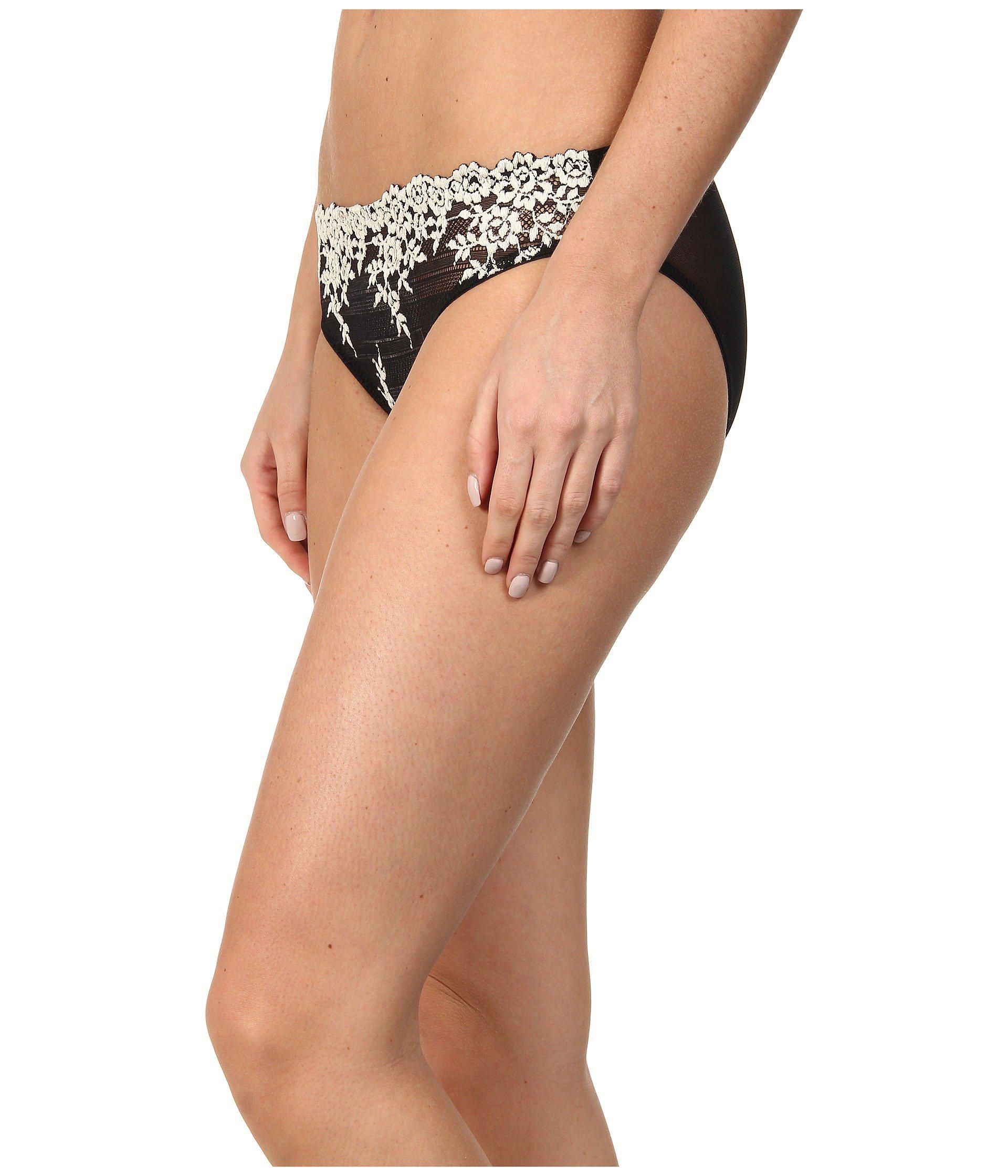 ba63cff87527 Lyst - Wacoal Embrace Lace Bikini (natural Nude/ivory) Women's Underwear in  Black