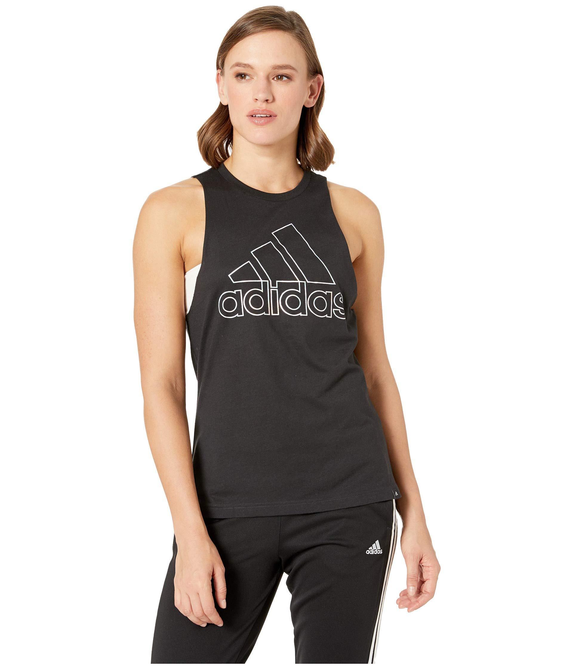 7effce404ec Adidas - Badge Of Sport Iridescent Muscle Tank Top (black) Women's  Sleeveless - Lyst. View fullscreen