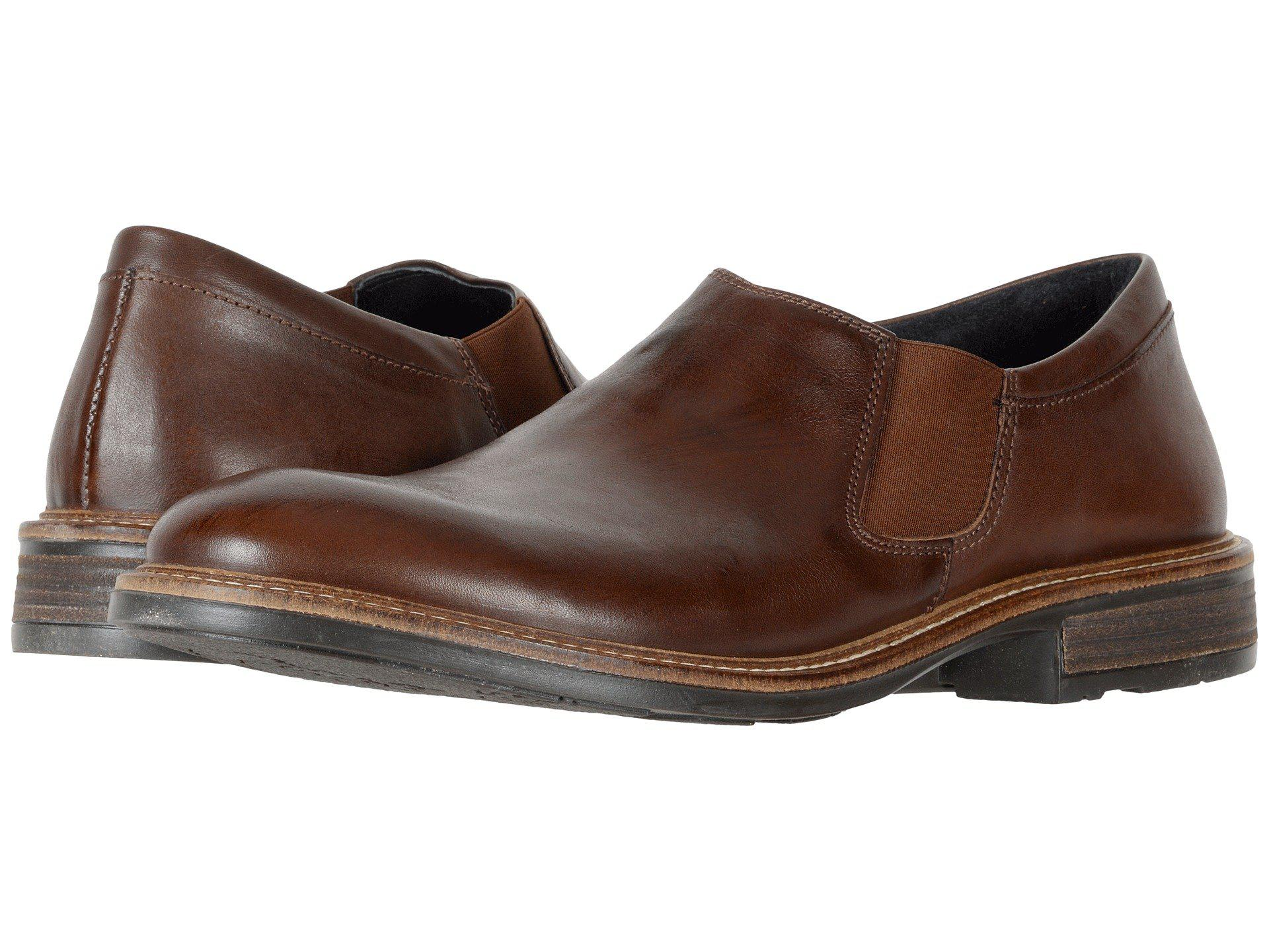 7350e47f433816 Lyst - Naot Director (toffee Brown Leather) Men s Slip On Shoes in ...