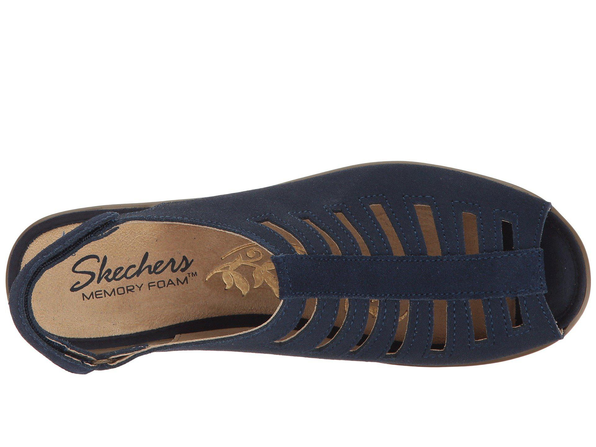 10bf8b8887fb Lyst - Skechers Parallel-trapezoid Wedge Sandal in Blue - Save 46%