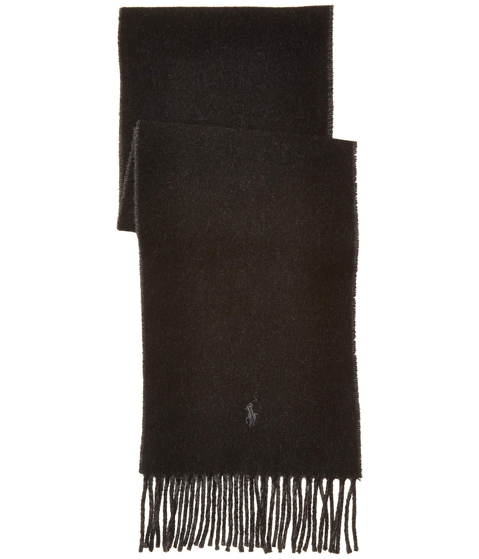 ae36cf056279 Lyst - Polo Ralph Lauren Classic Reversible Scarf (black charcoal) Scarves  in Black for Men
