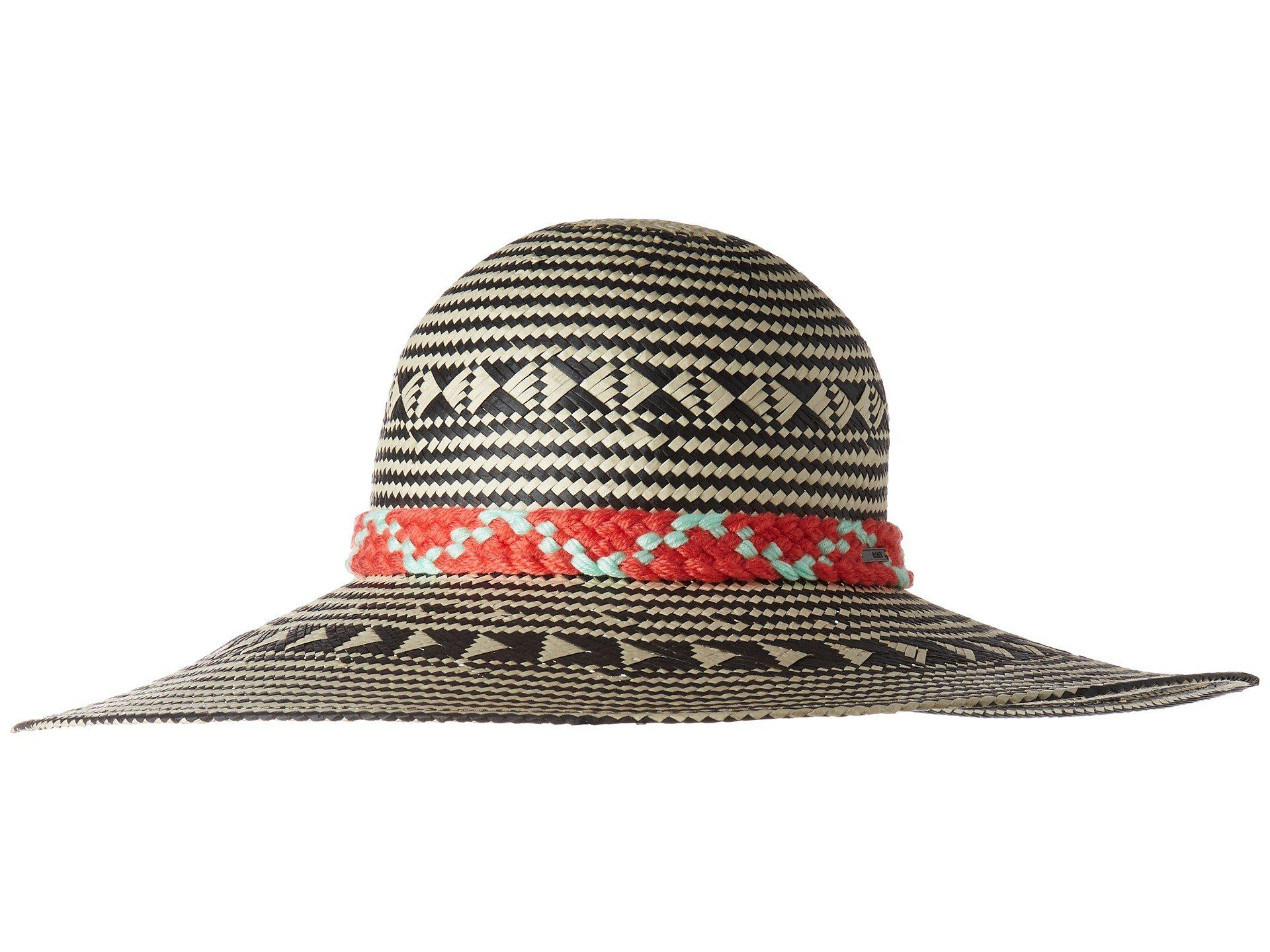 Lyst - Roxy Feel In The Sand Sun Hat (true Black) Traditional Hats ... 5e5feb6af4d0