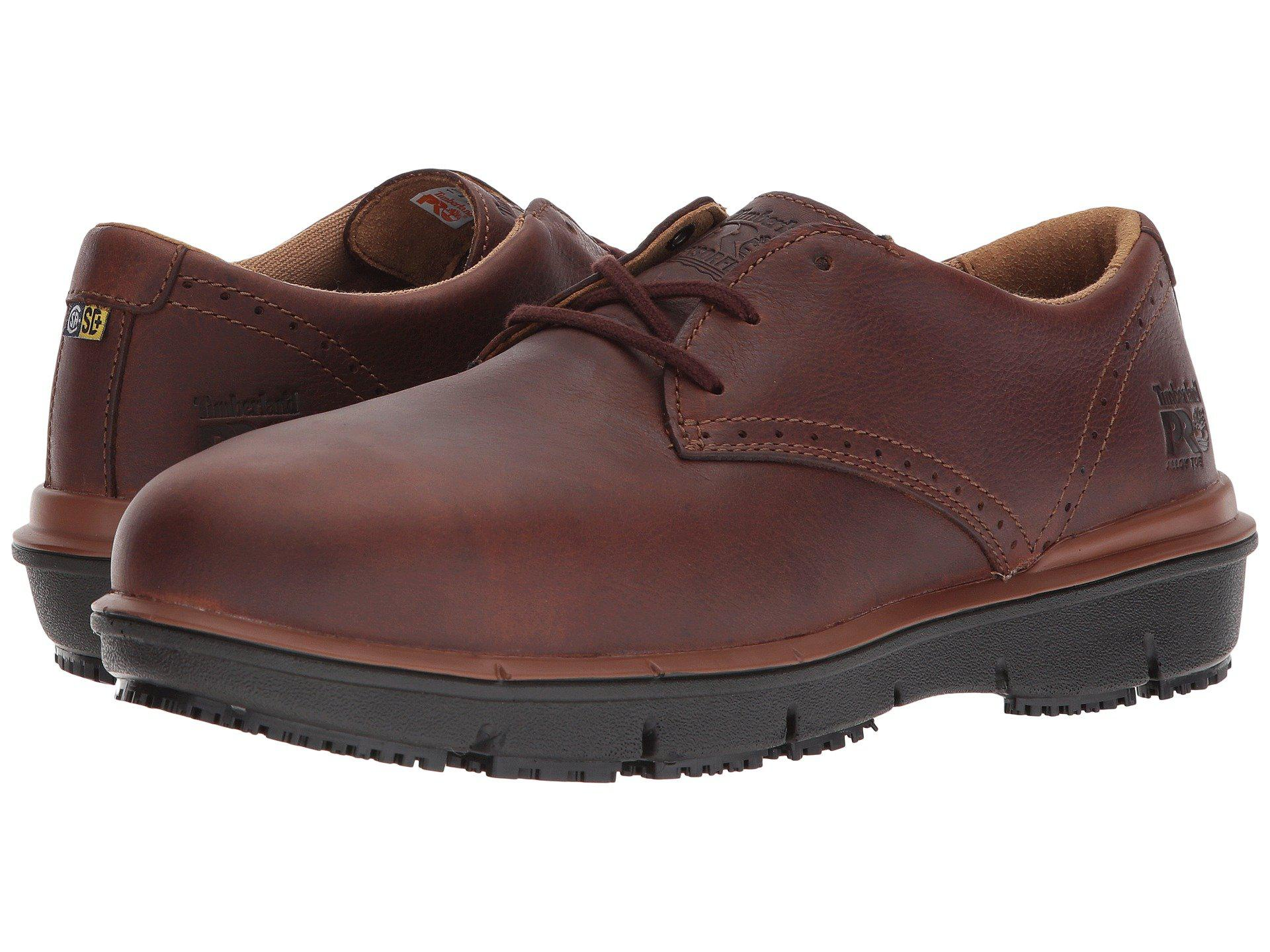 Timberland. Men's Brown Boldon Oxford Alloy Safety Toe Sd