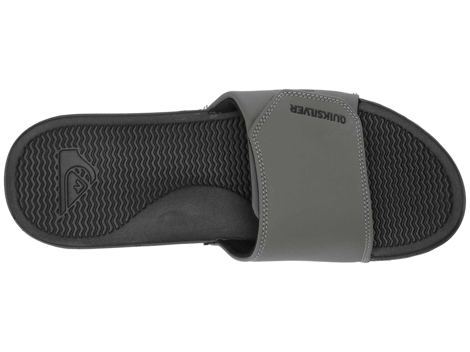 69be24bd51a Quiksilver - Shoreline Adjust (black black white) Men s Slide Shoes for  Men. View fullscreen