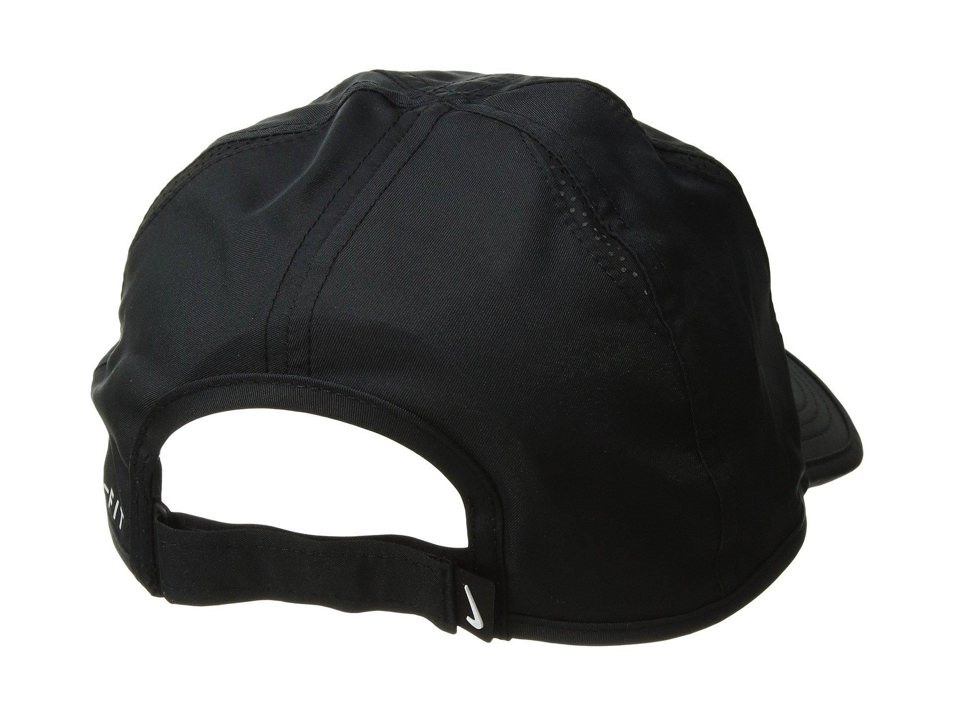 7634ea58 Nike Featherlight Cap (team Crimson/black/white) Caps in Black for ...