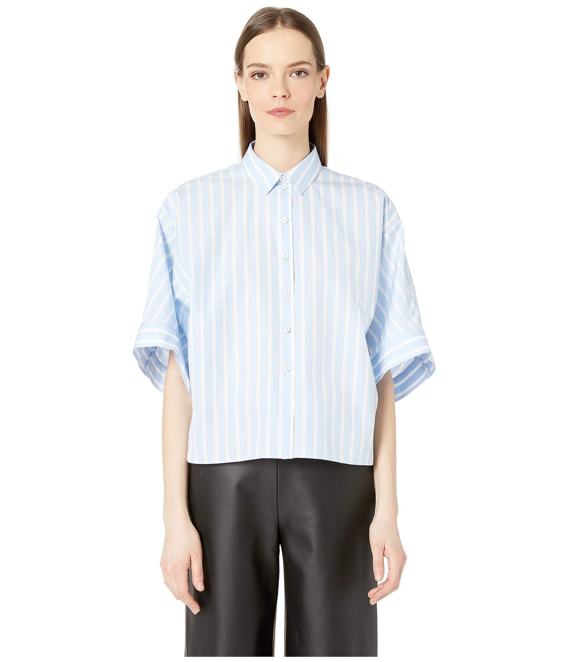 a963bce8 Lyst - Jil Sander Navy Woven Shirt (blue/white) Women's Clothing in Blue