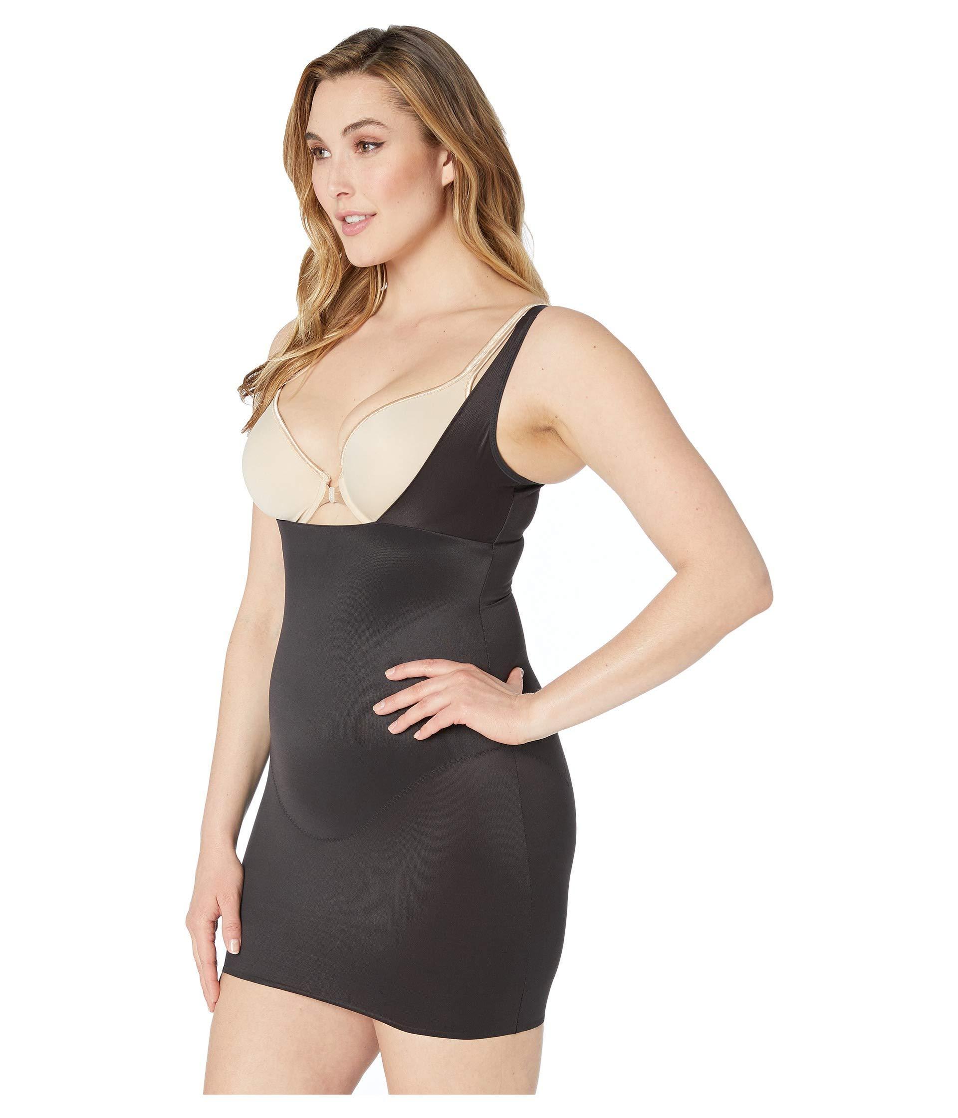 3dd1016fbfe Miraclesuit Plus Size Wear-your-own-bra Extra Firm Control Slip (black)  Women s Underwear in Black - Lyst