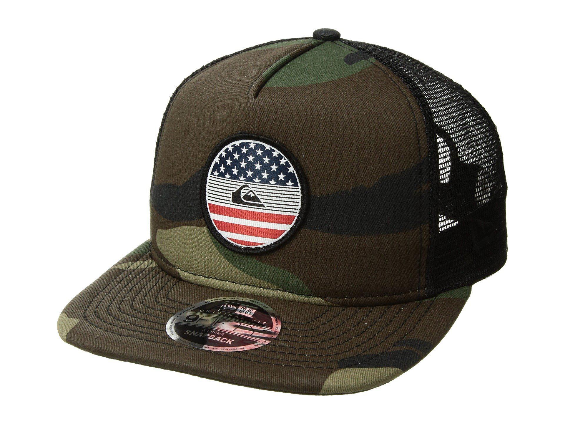 fc274ef8 ... germany lyst quiksilver flag trucker hat for men 633de 7b760