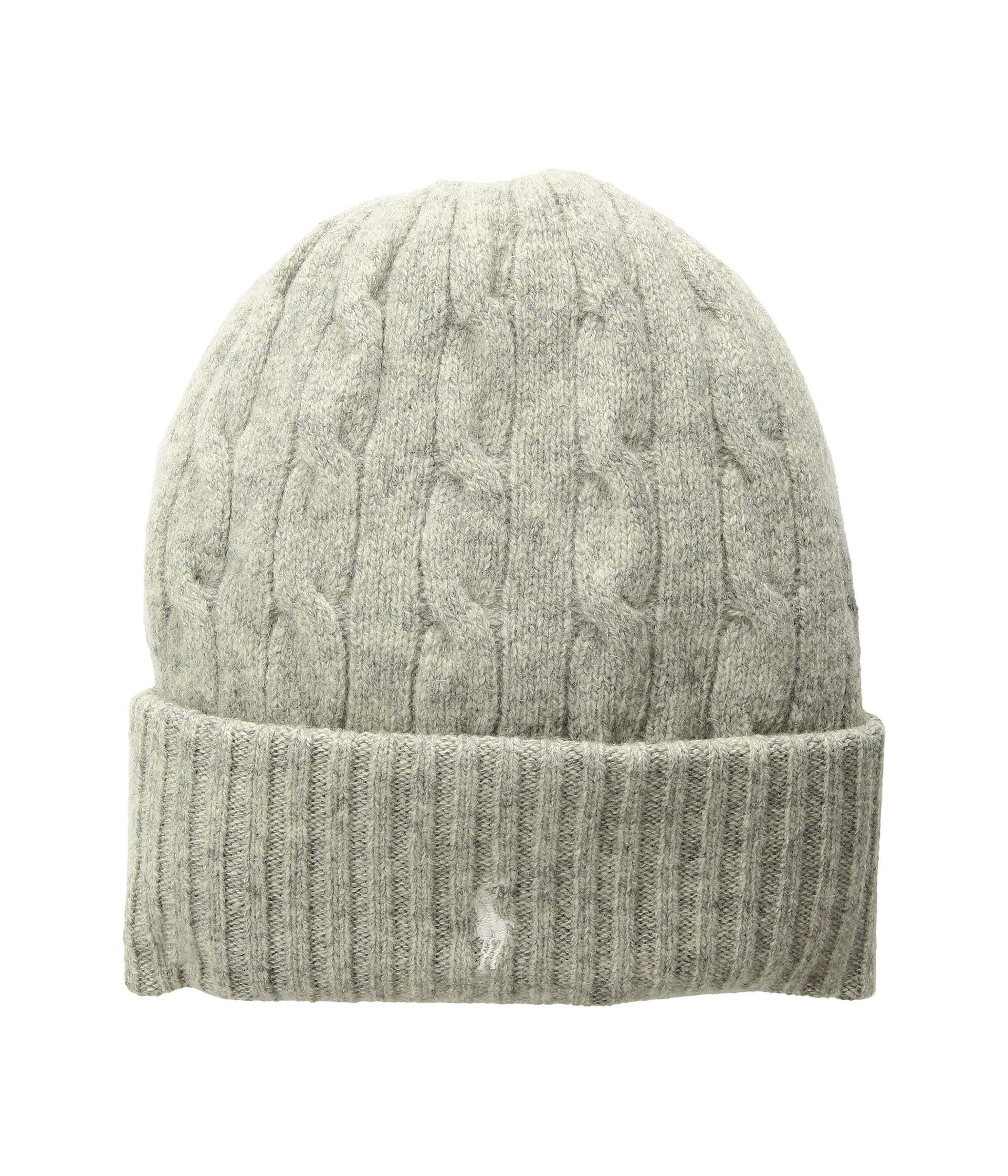 e015c908348 Lyst - Polo Ralph Lauren Wool Cashmere Classic Cable Cuff Hat ...