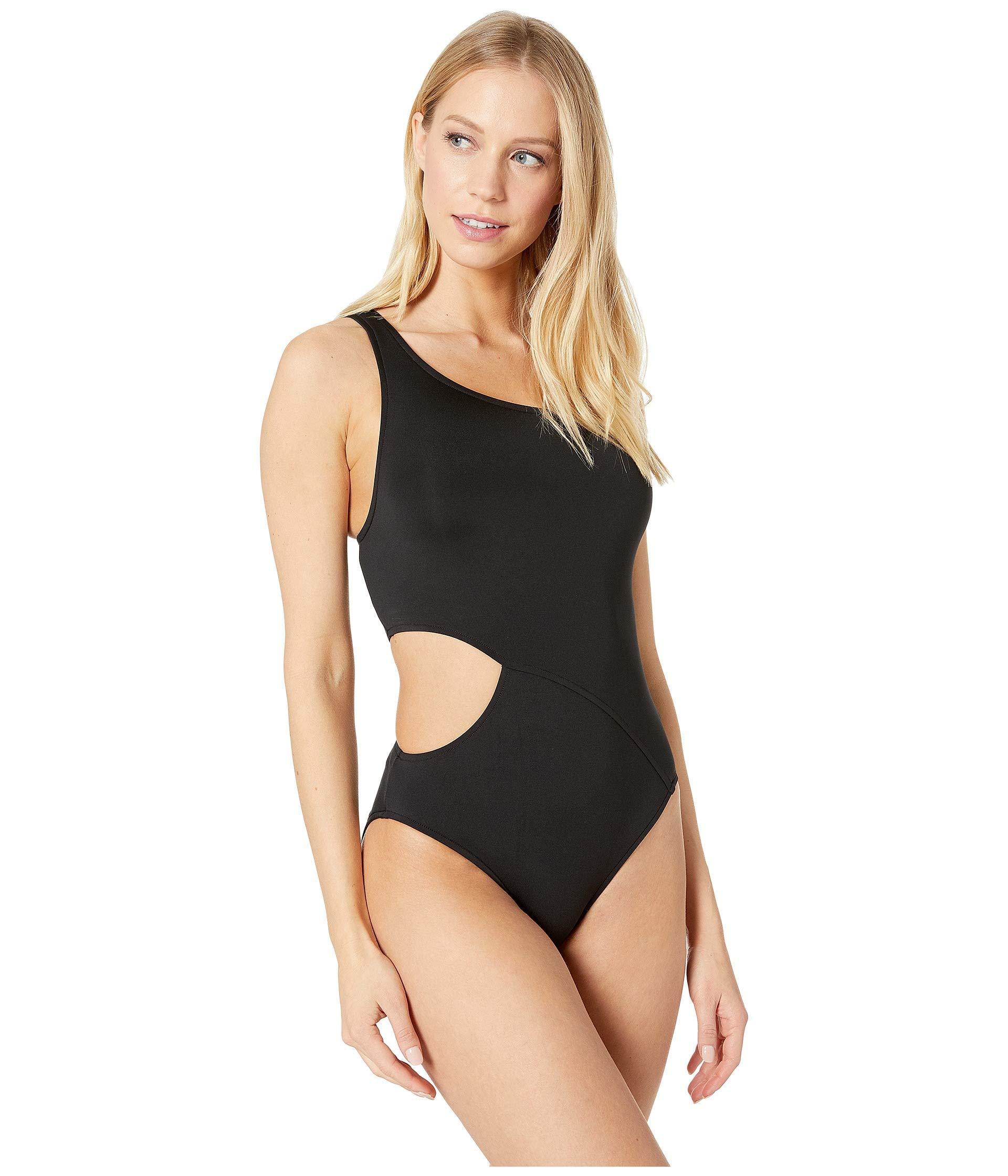 cd2b47258bd2b Lyst - Seafolly Active One Shoulder Maillot One-piece (electric Blue) Women s  Swimsuits One Piece in Black - Save 41%