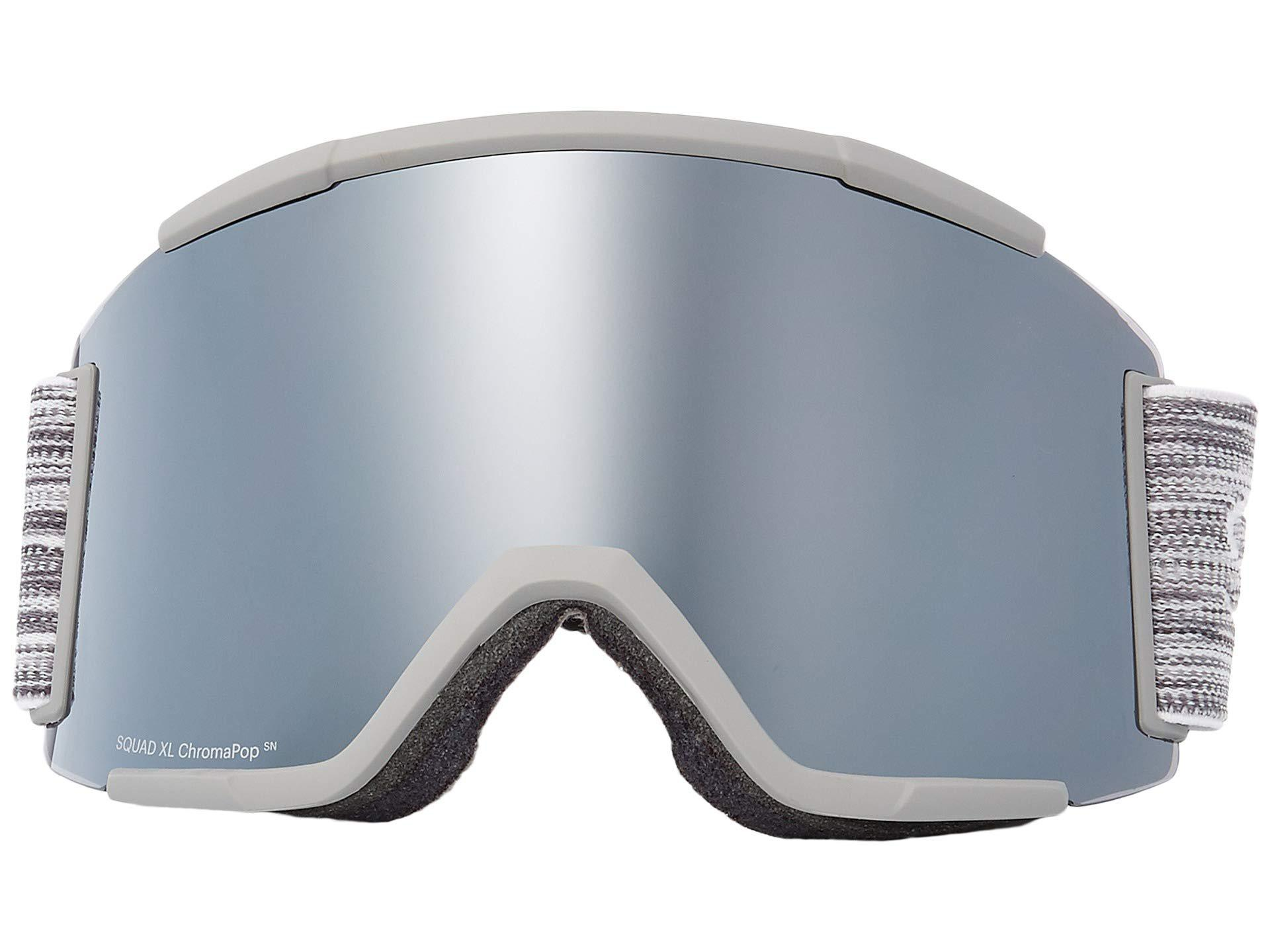 8c04fd226fea Lyst - Smith Optics Squad Xl Goggle (cloud Grey chromapop Sun ...