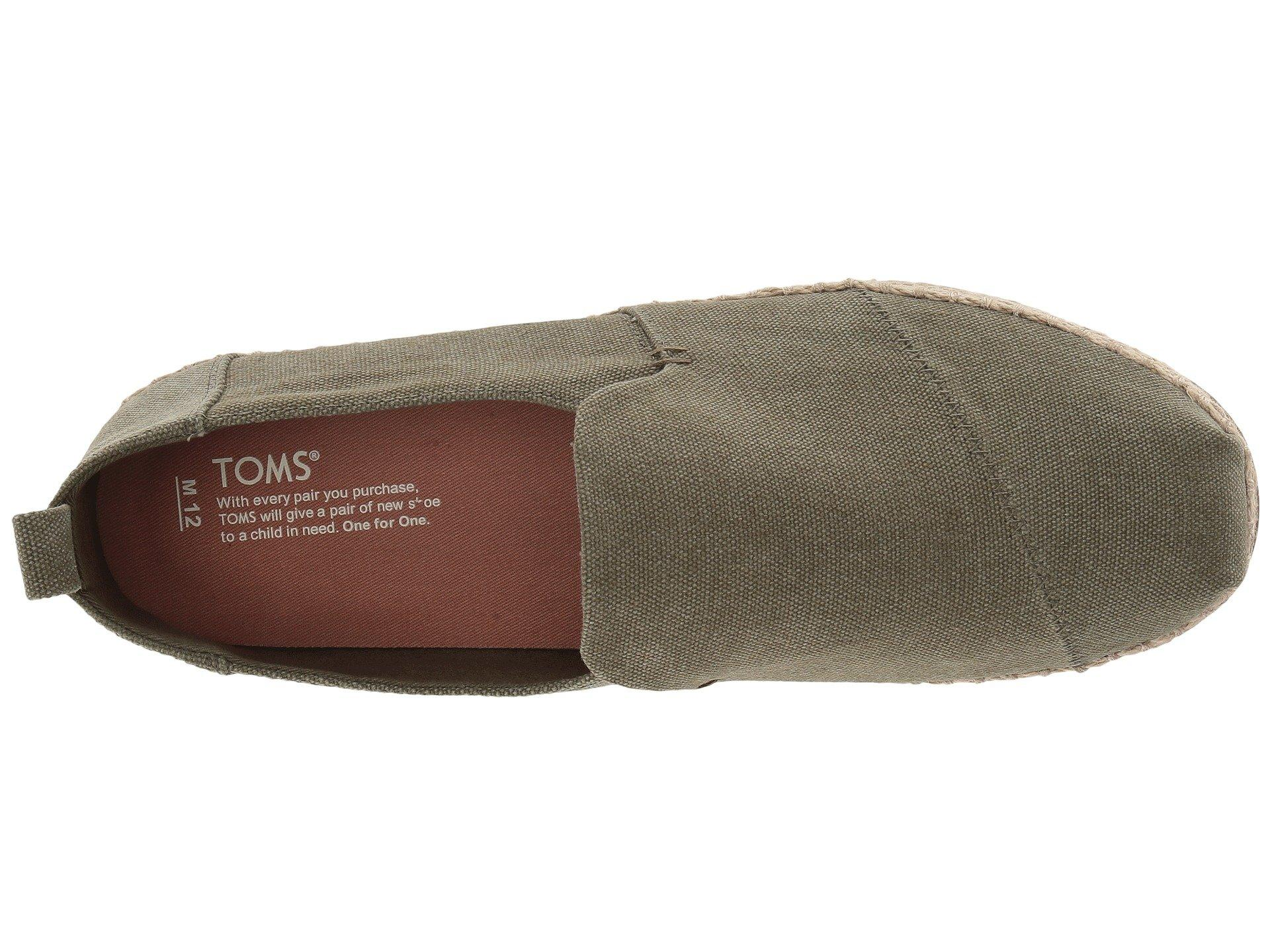 c53278e4437 TOMS - Multicolor Deconstructed Alpargata Rope (black white Noise Jersey)  Men s Slip On. View fullscreen