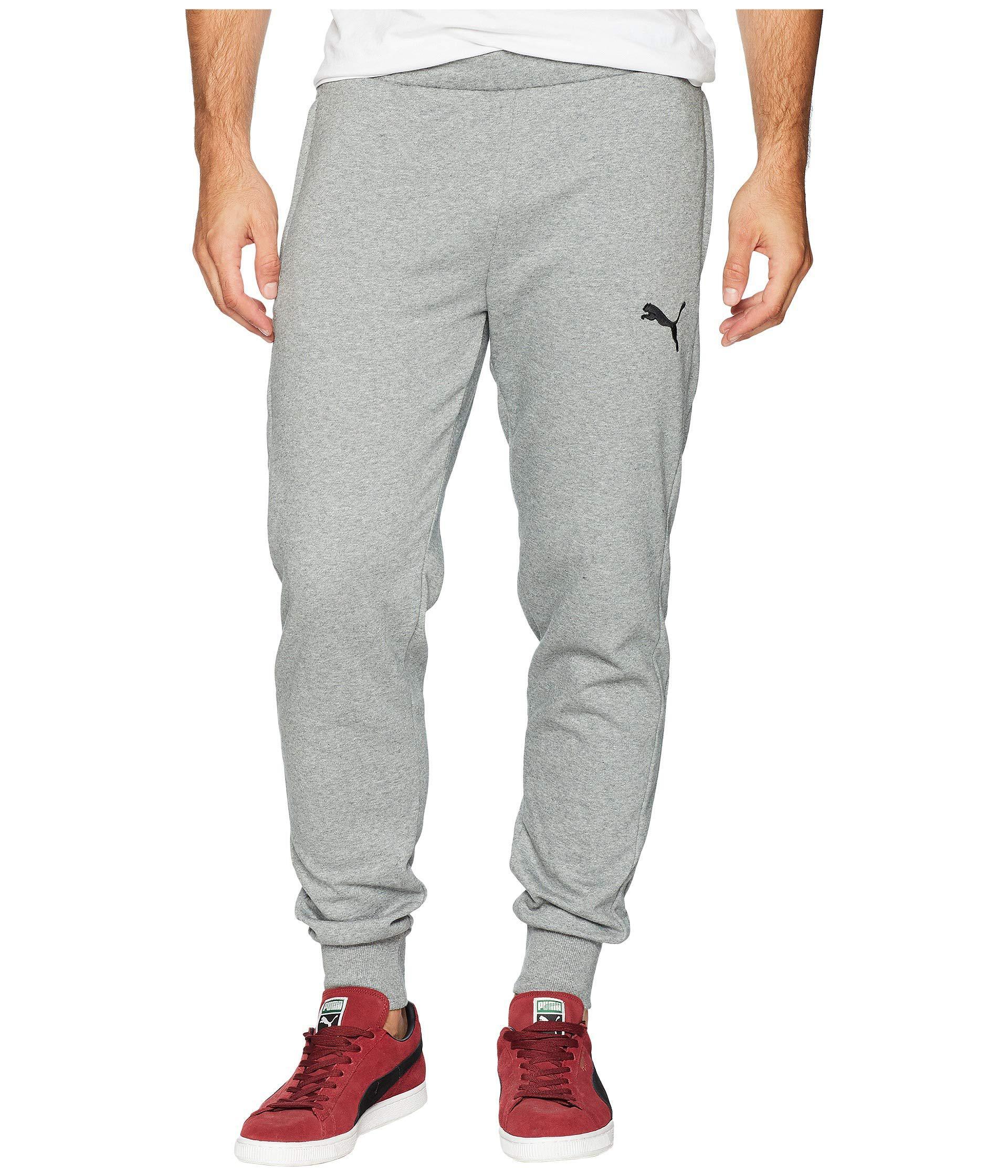 Lyst - PUMA P48 Modern Sports Fleece Open Cuffed Pants (cotton Black ... 7afe457f3269