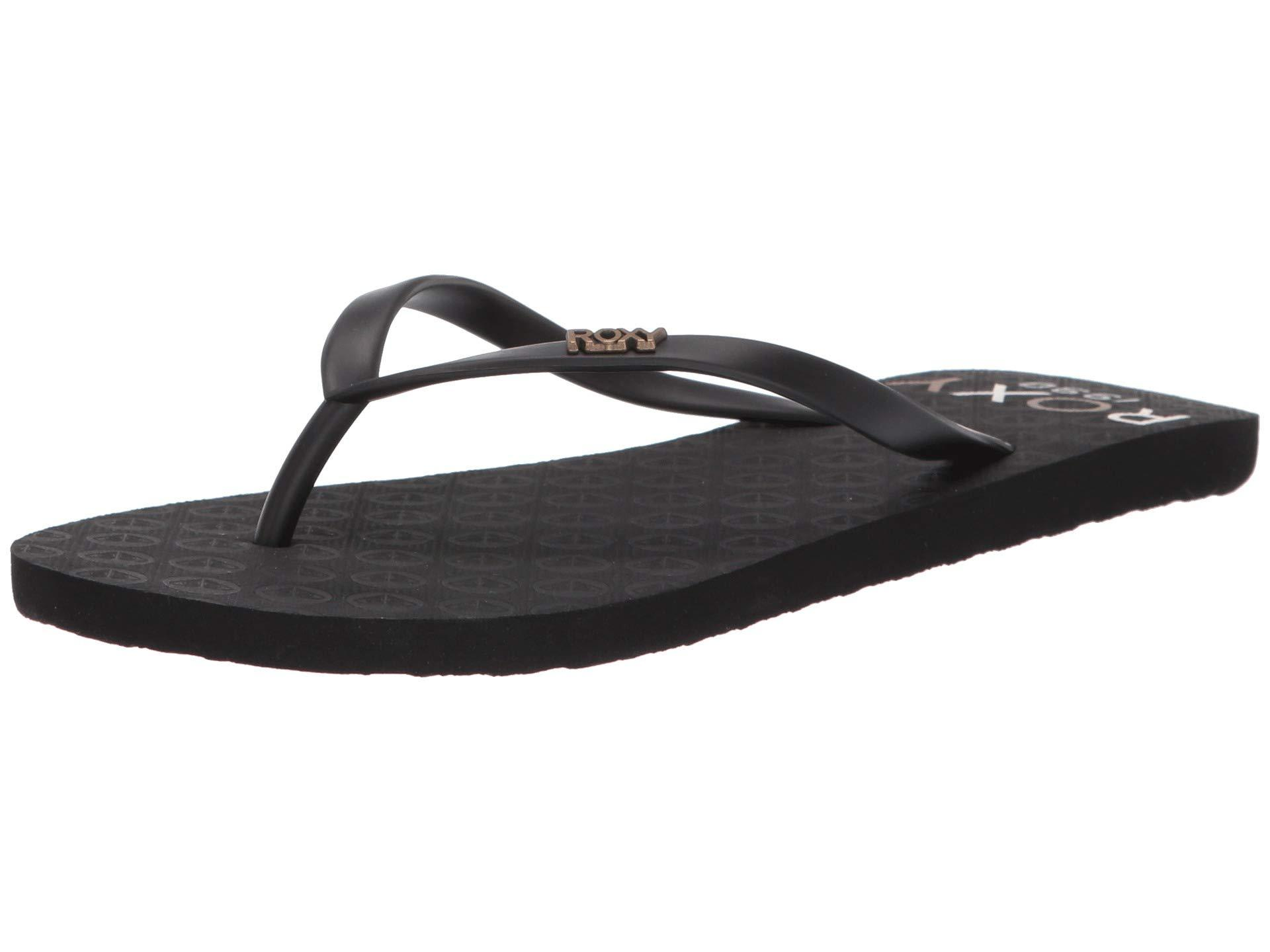 87042b9c4023 Roxy - Viva Stamp Ii (black Multi) Women s Sandals - Lyst. View fullscreen