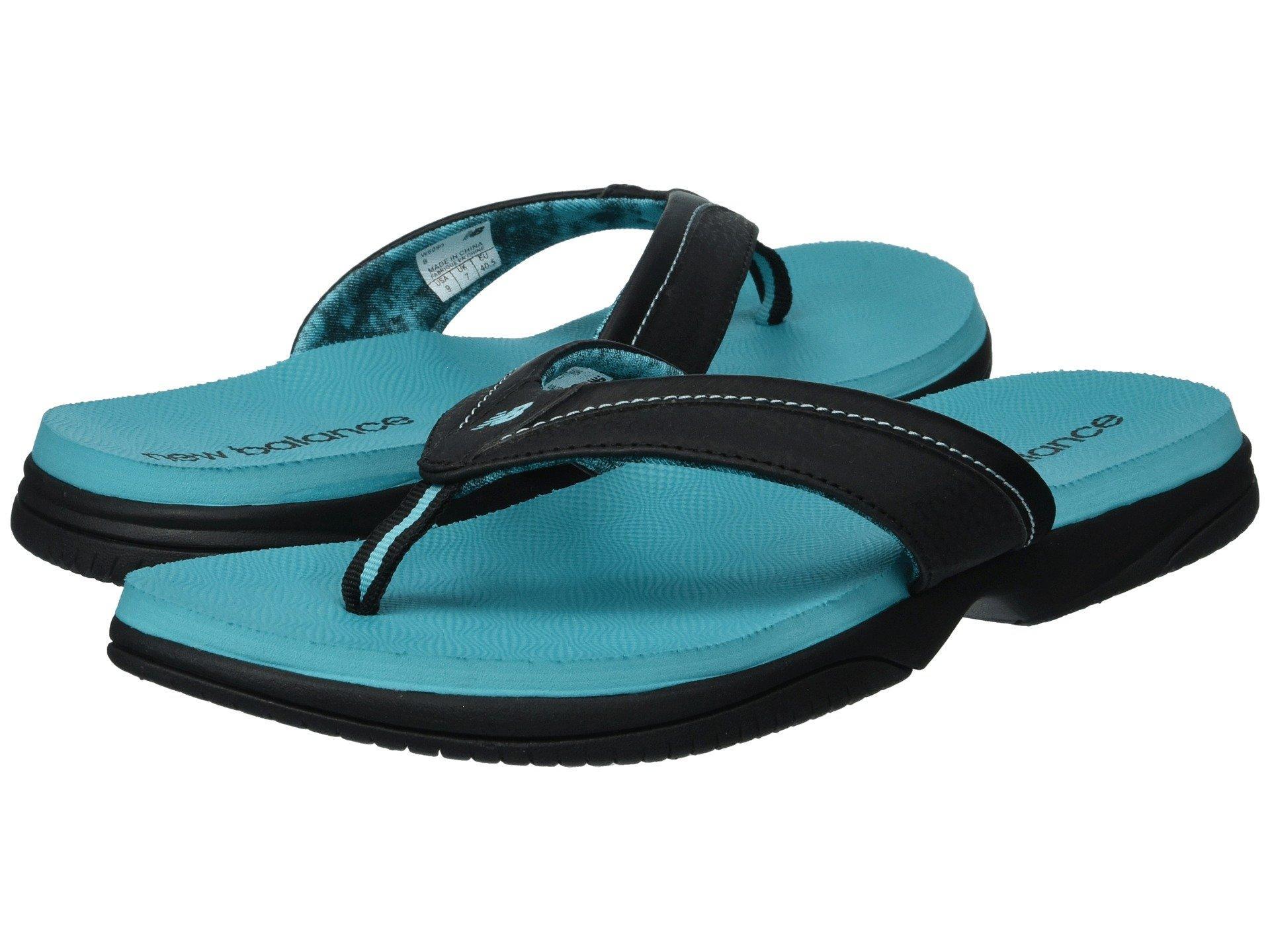 439278bff5e1 Lyst - New Balance Jojo Thong (white silver) Women s Sandals in Black
