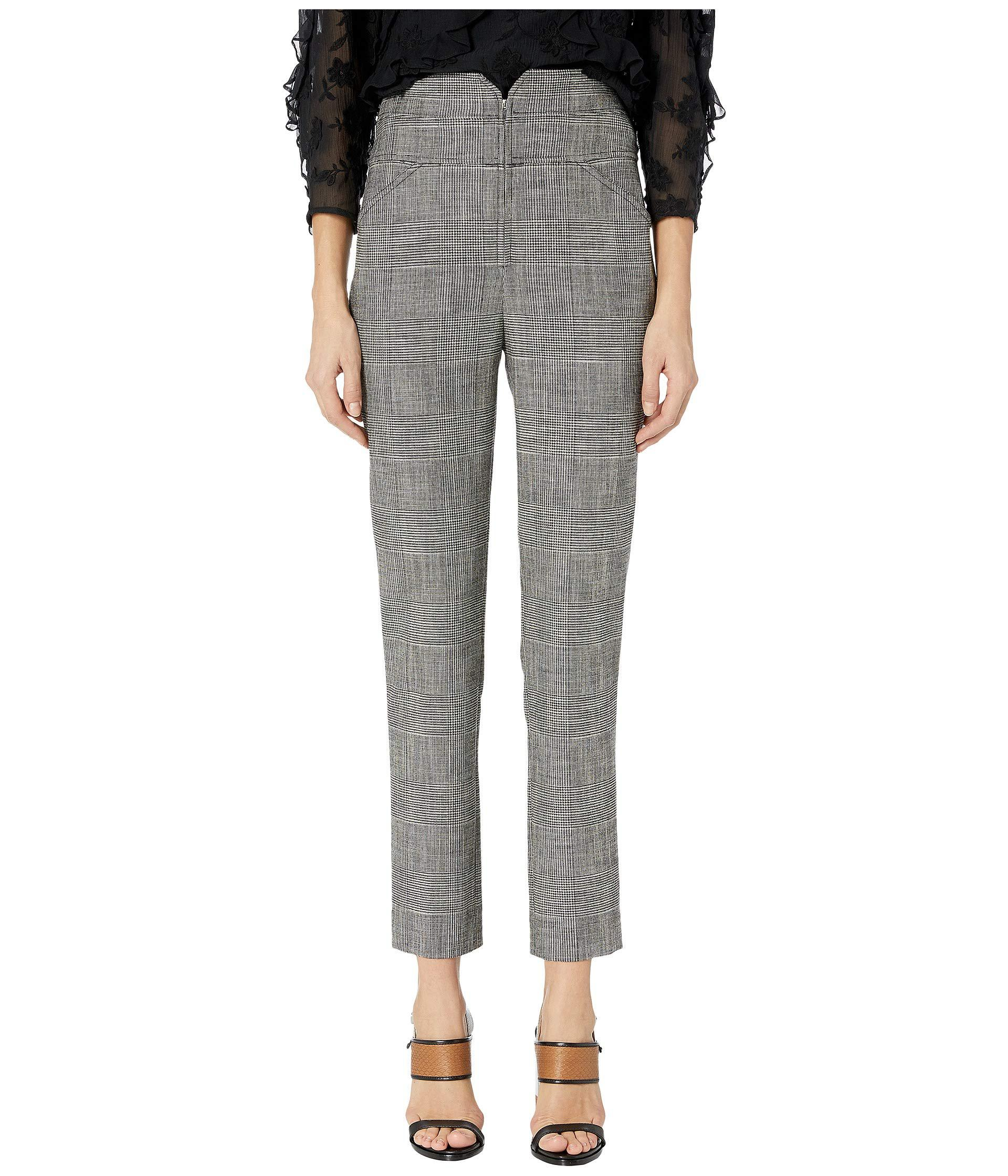 0152ff7ee3e36e Lyst - Rebecca Taylor Plaid Pants (black Combo) Women's Casual Pants ...