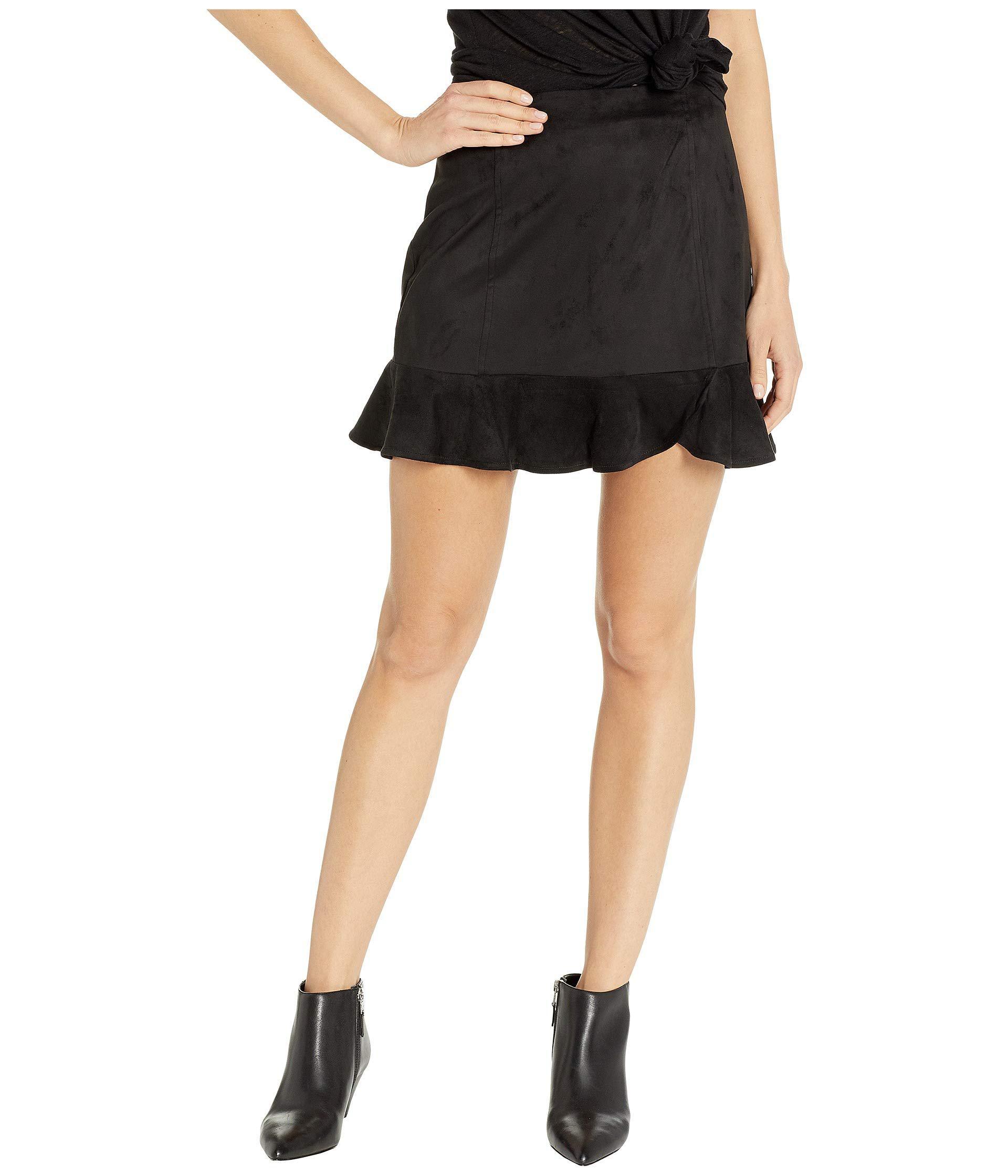 ff0ff71bf Lyst - Jack BB Dakota Sagittarius Faux Suede Ruffle Skirt (black ...