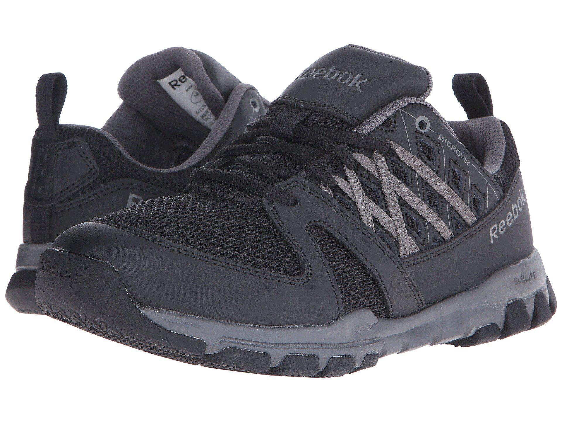 Lyst - Reebok Sublite Work Soft Toe (black) Women s Work Boots in Black 4b66ced84