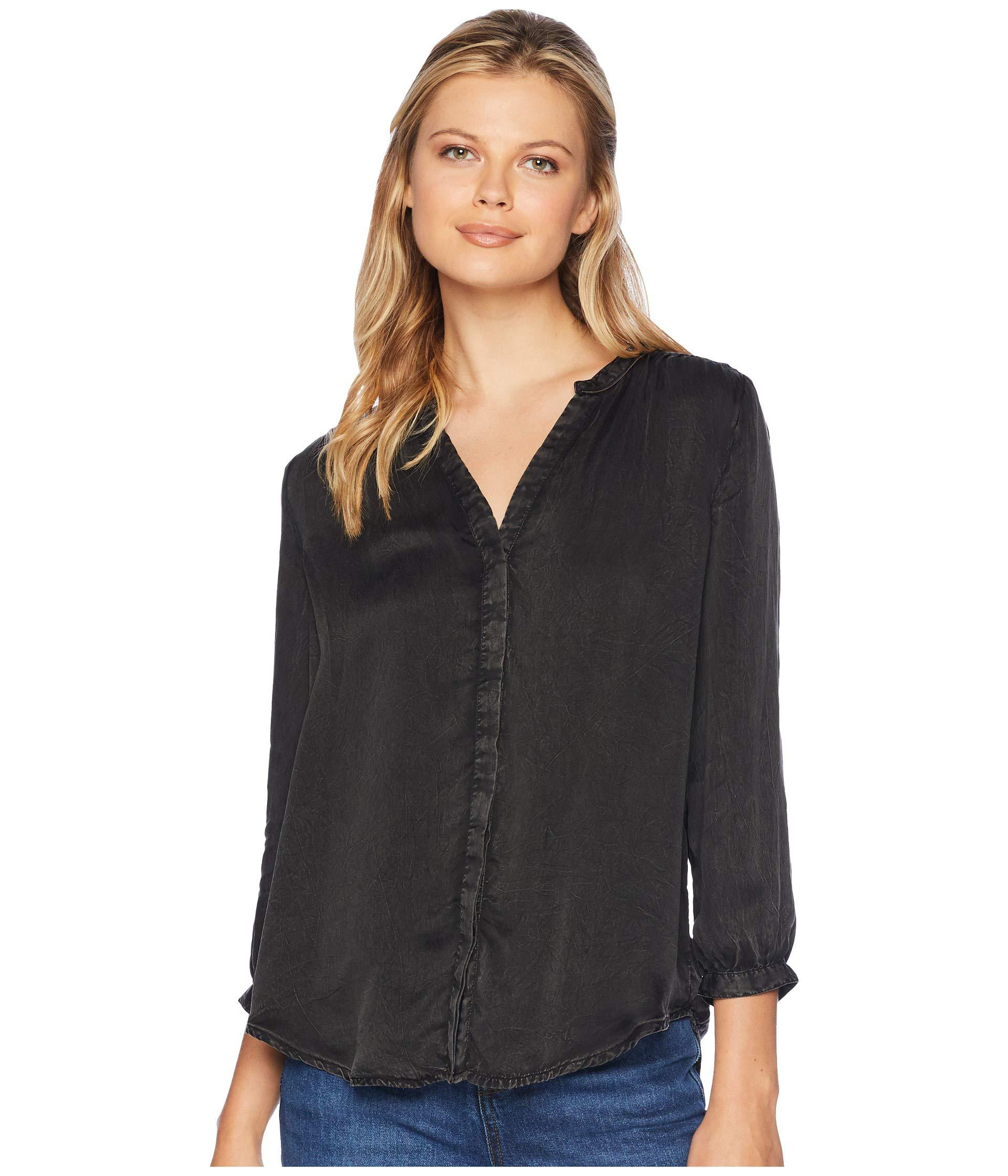 32e2ae9755d63c Lyst - NYDJ Garment Dye Blouse W  Studs (black) Women s Blouse in Black