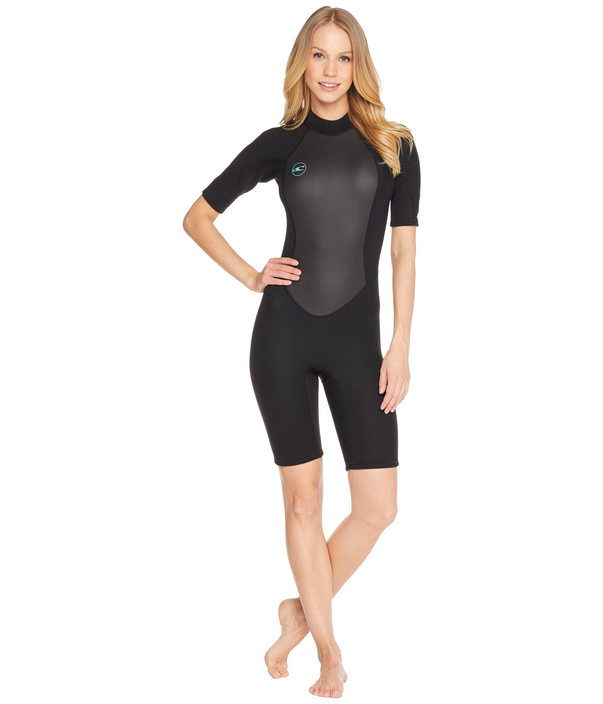 6b66b33ada O'neill Sportswear Reactor-2 2mm Back Zip Short Sleeve (black/black ...