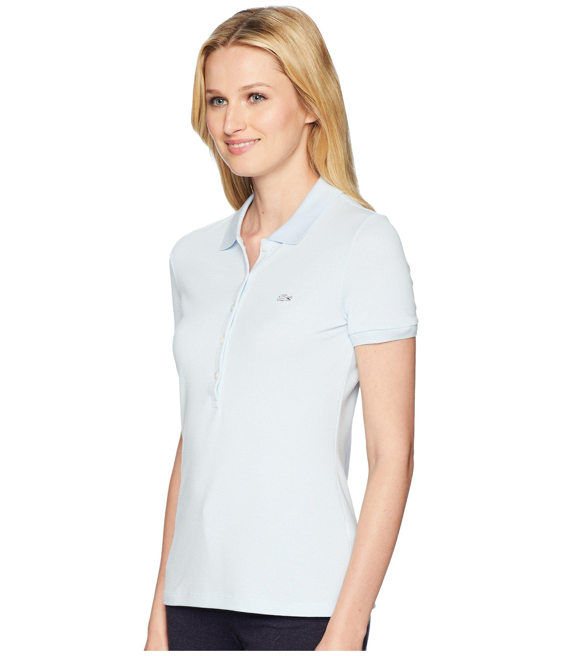 361cae96a014 Lyst - Lacoste Short Sleeve Slim Fit Stretch Pique Polo Shirt (navy Blue)  Women s Clothing in Blue - Save 30%