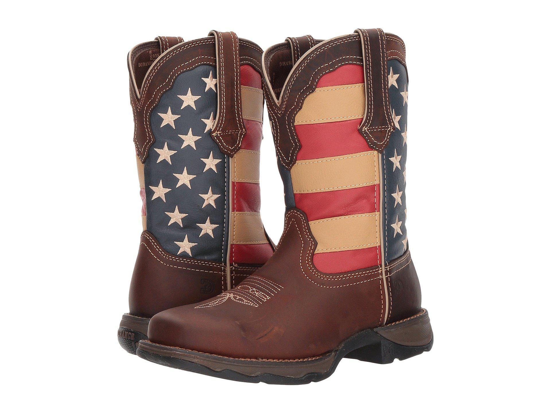 add127f73d4 Lyst - Durango Lady Rebel Flag Steel Toe (brown) Cowboy Boots in ...