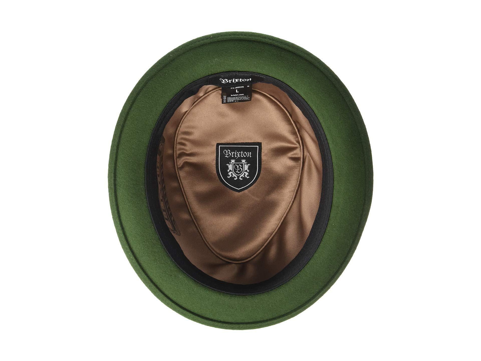 Brixton - Green Stout Pork Pie Hat (moss bronze) Traditional Hats for Men.  View fullscreen 6e7f9ca2debd