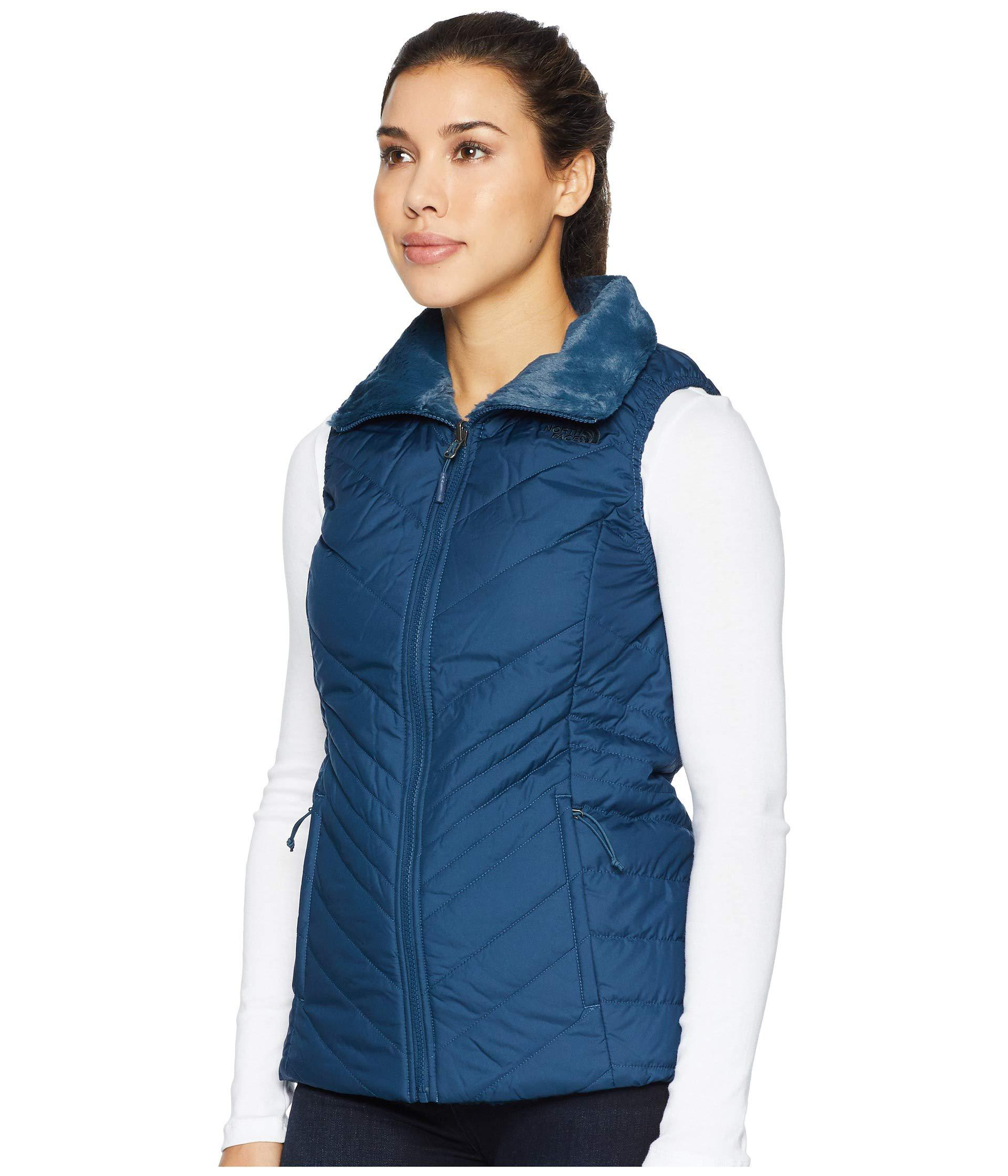 Lyst - The North Face Mossbud Insulated Reversible Vest (tnf Black) Women s  Vest in Blue 4c5811759