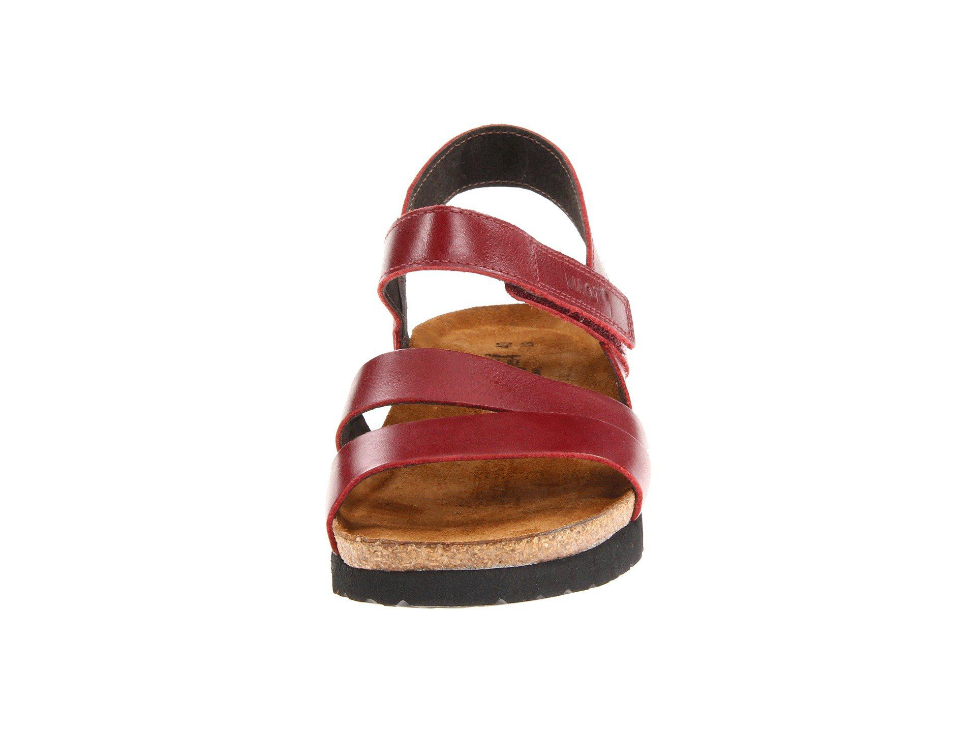 c281e37a4c65 Naot - Red Kayla (sea Green Leather) Women s Sandals - Lyst. View fullscreen