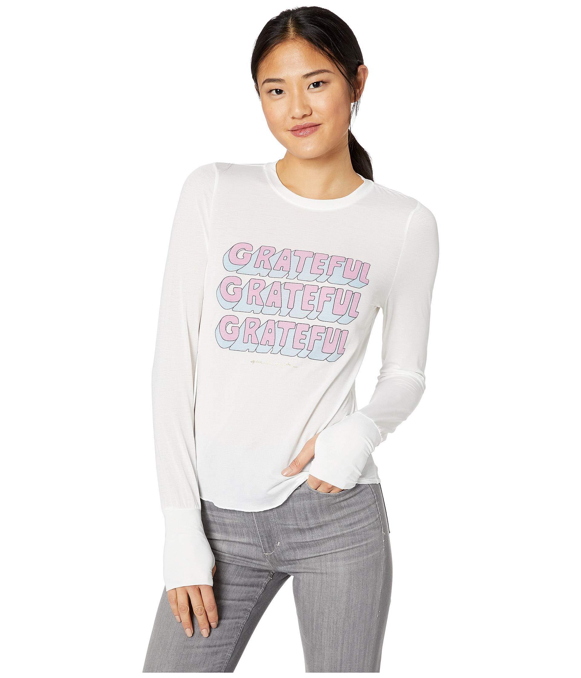 5e86613860870b Lyst - Spiritual Gangster Active Long Sleeve (white) Women s T Shirt ...