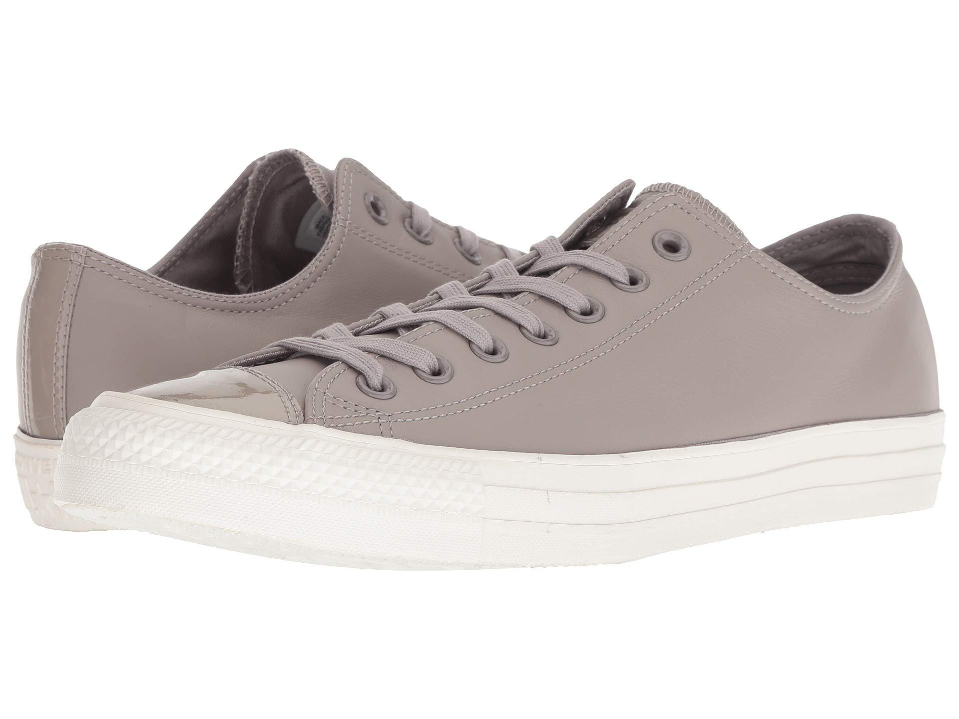 946ec6b800ead2 Lyst - Converse Chuck Taylor All Star Leather - Ox (mercury Grey ...