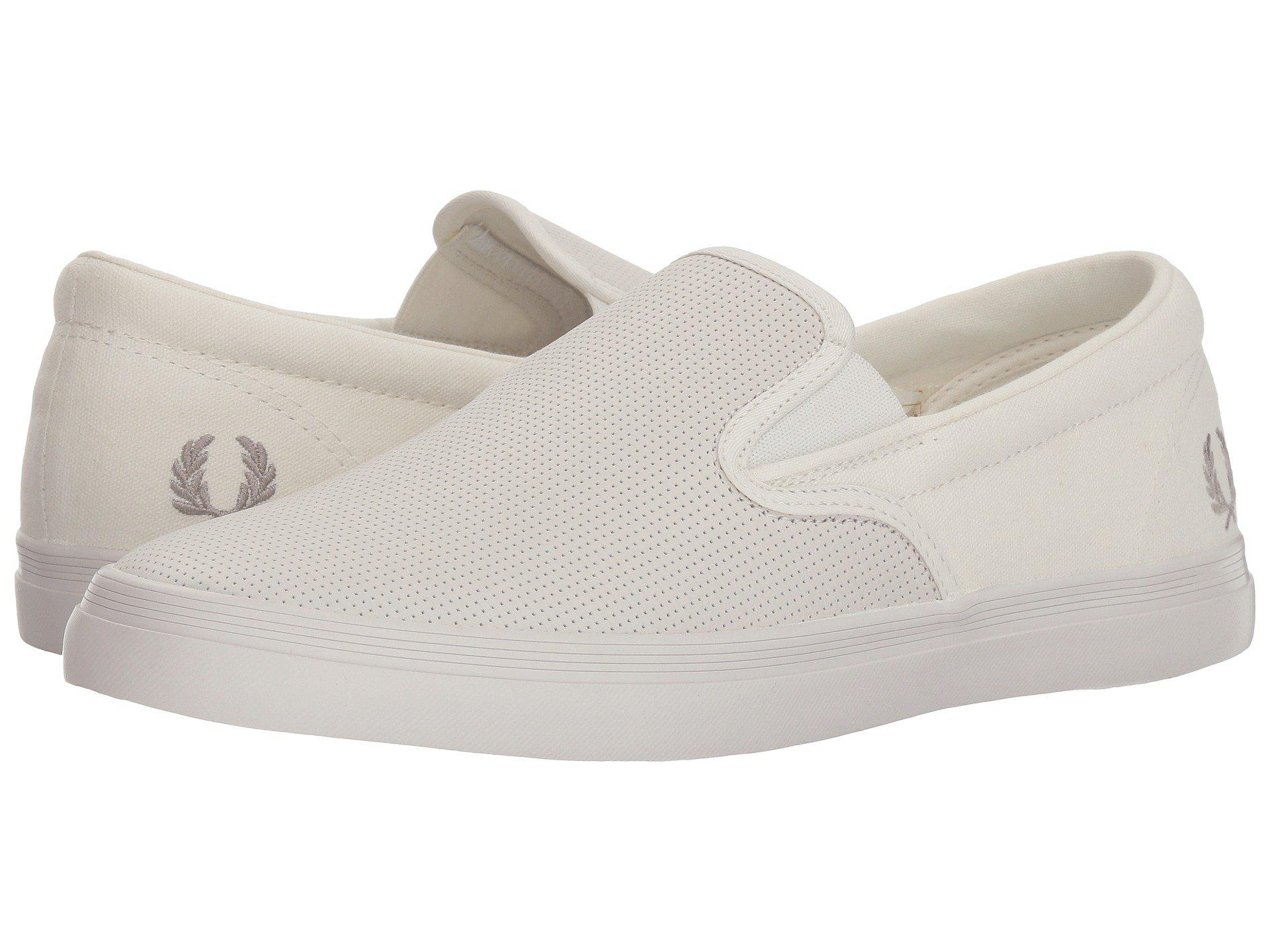 Fred PerryUnderspin Slip-On Checkerboard Leather/Canvas f6NKBtElig